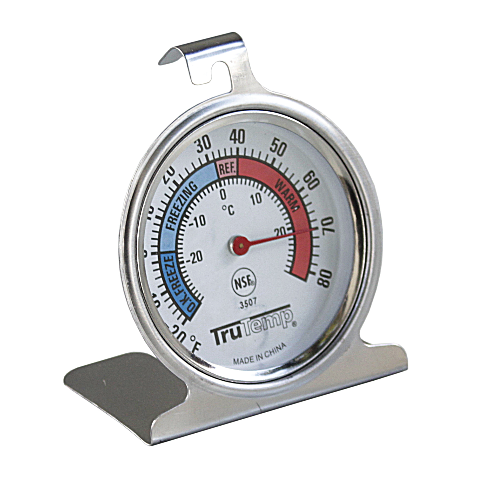TruTemp by Taylor Silver Analog Freezer and Refrigerator Thermometer