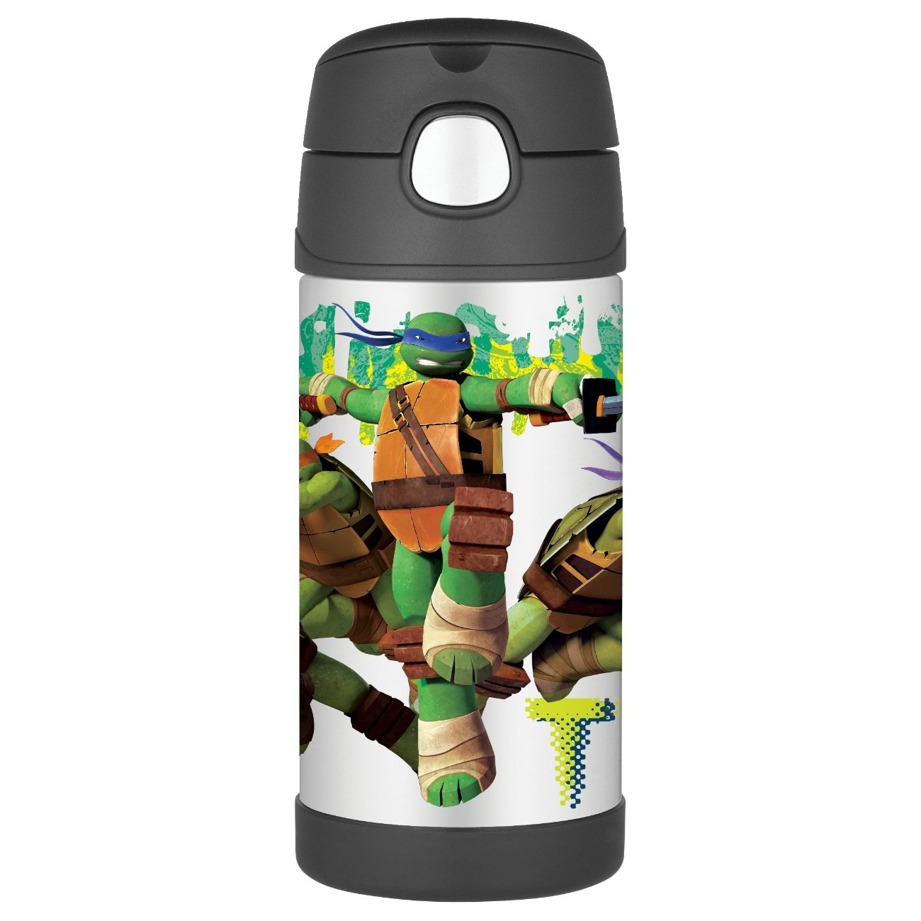 Thermos Funtainer Teenage Mutant Ninja Turtles Movie Stainless Steel Vacuum Insulated 12 Ounce Water Bottle