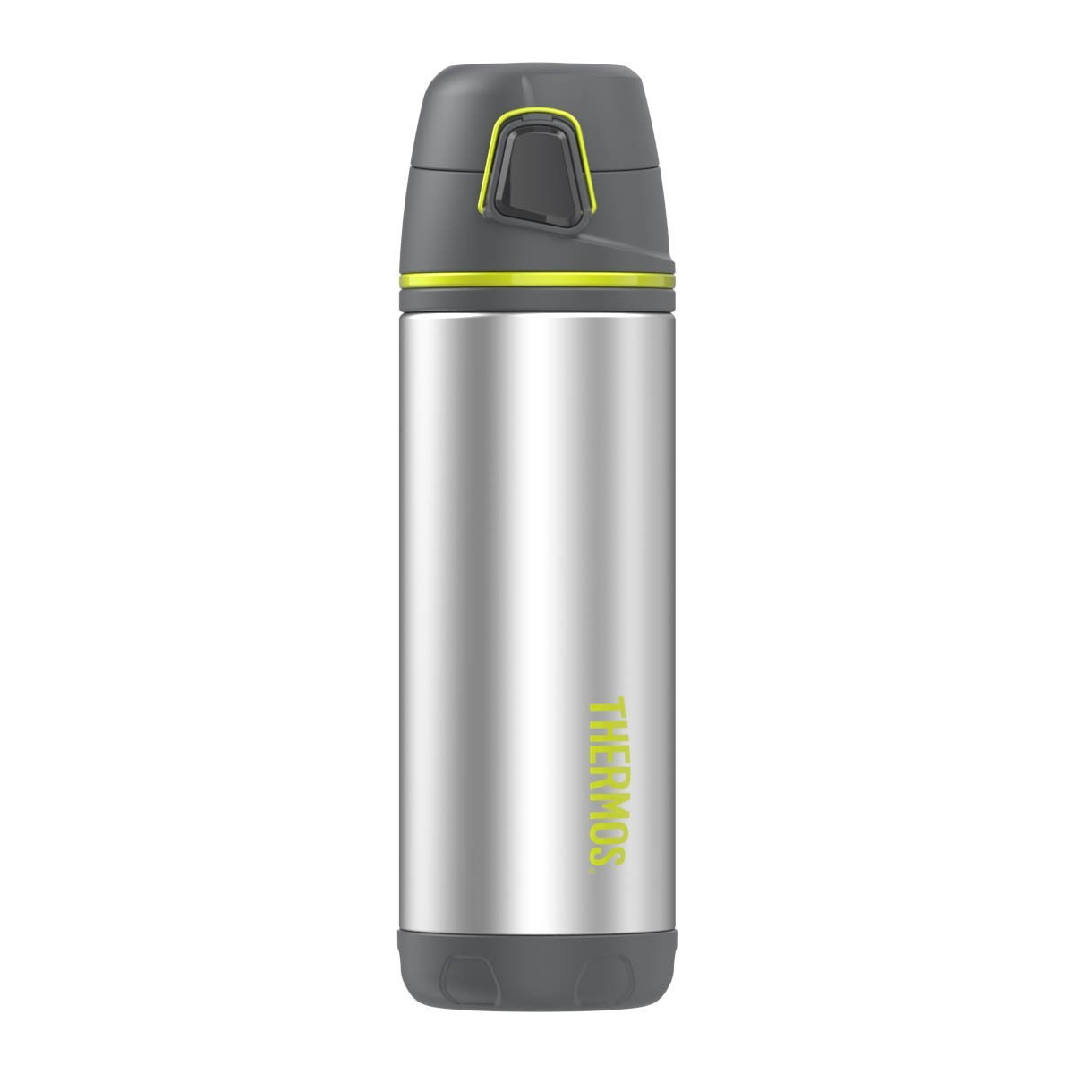 Thermos Element5 Charcoal and Lime Green Stainless Steel 16 Ounce Backpack Bottle