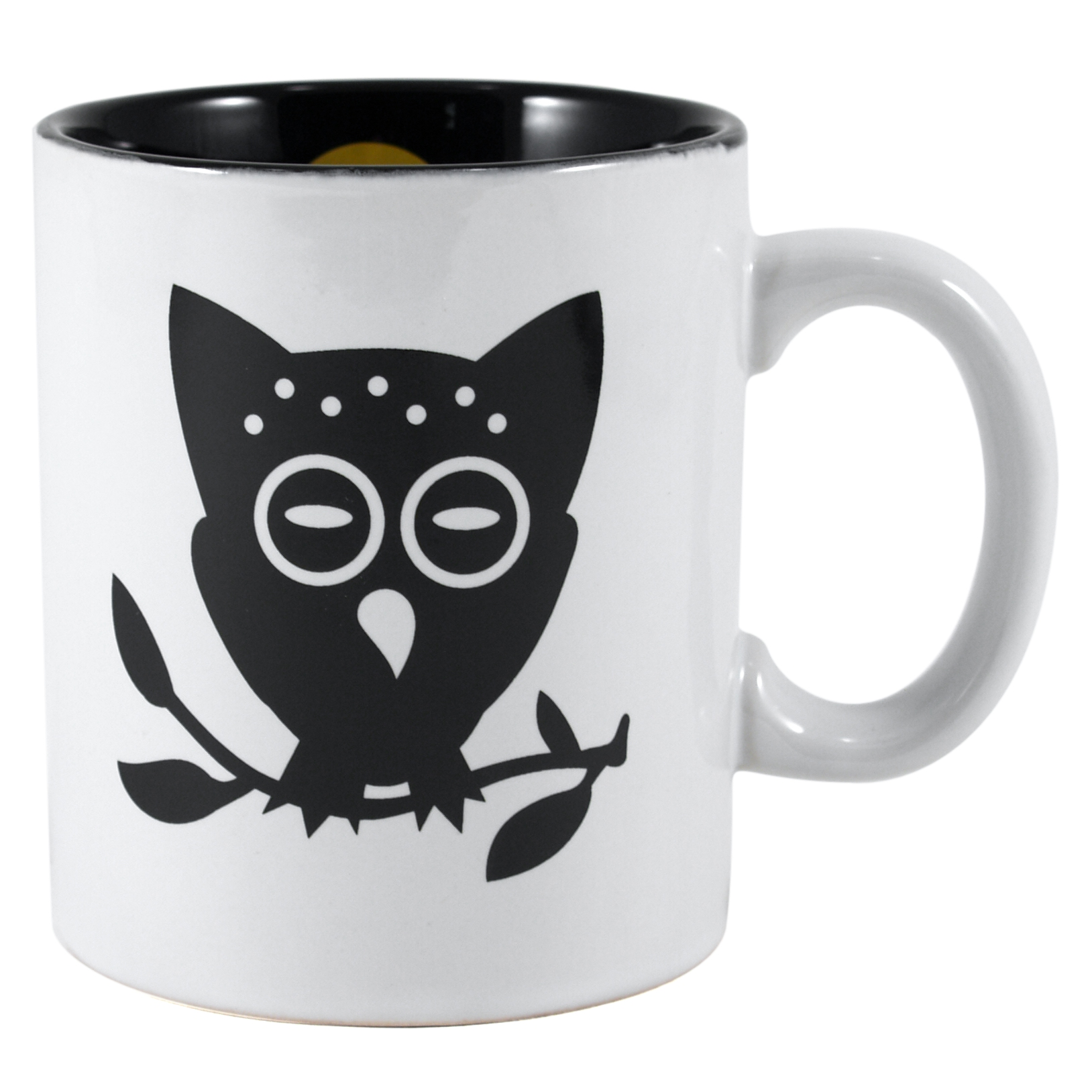 Omniware 11 Ounce Stoneware Night Owl Mug, Set of 4