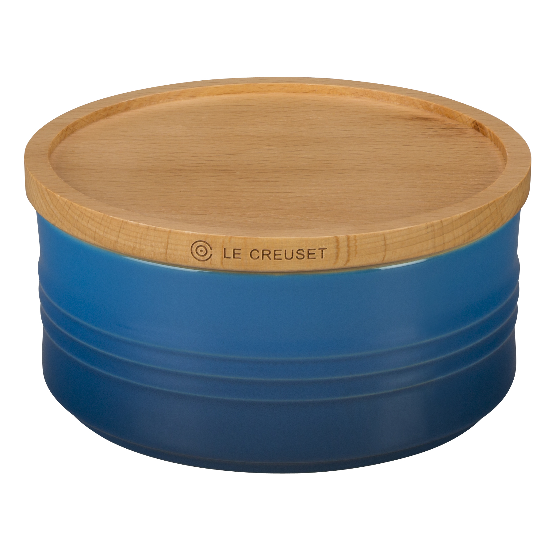 Le Creuset Marseille Stoneware 23 Ounce Canister with Wooden Lid
