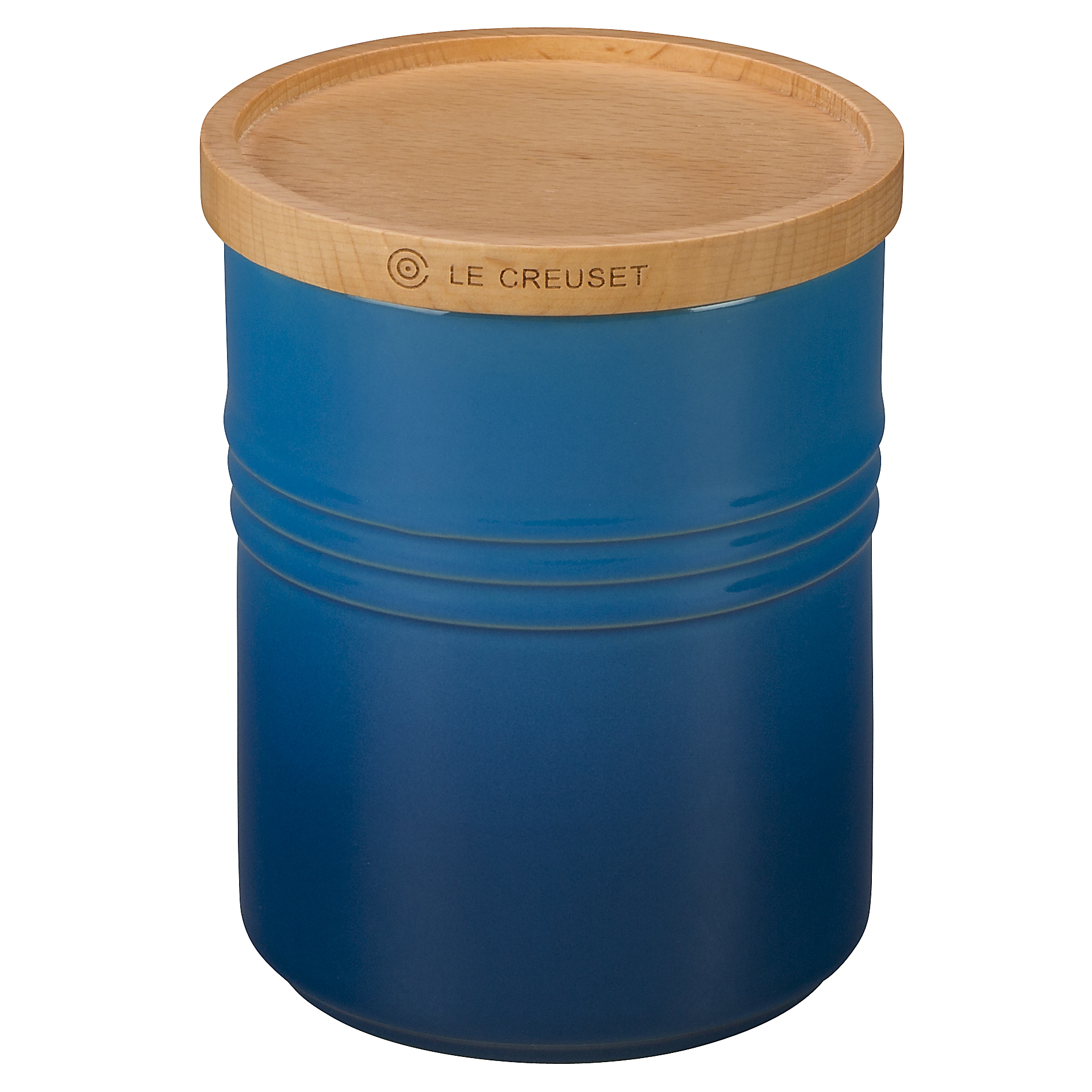 Le Creuset Marseille Stoneware 2.5 Quart Canister with Wooden Lid
