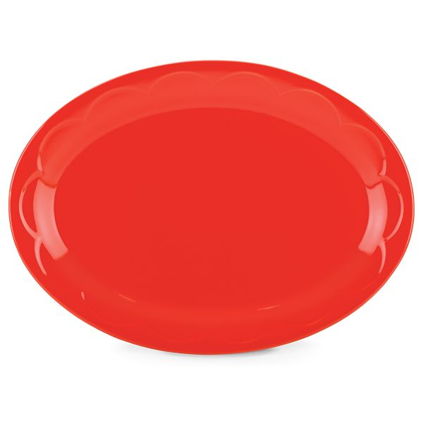 kate spade new york kitchen Red Sculpted Scallop 14 Inch Serving Platter