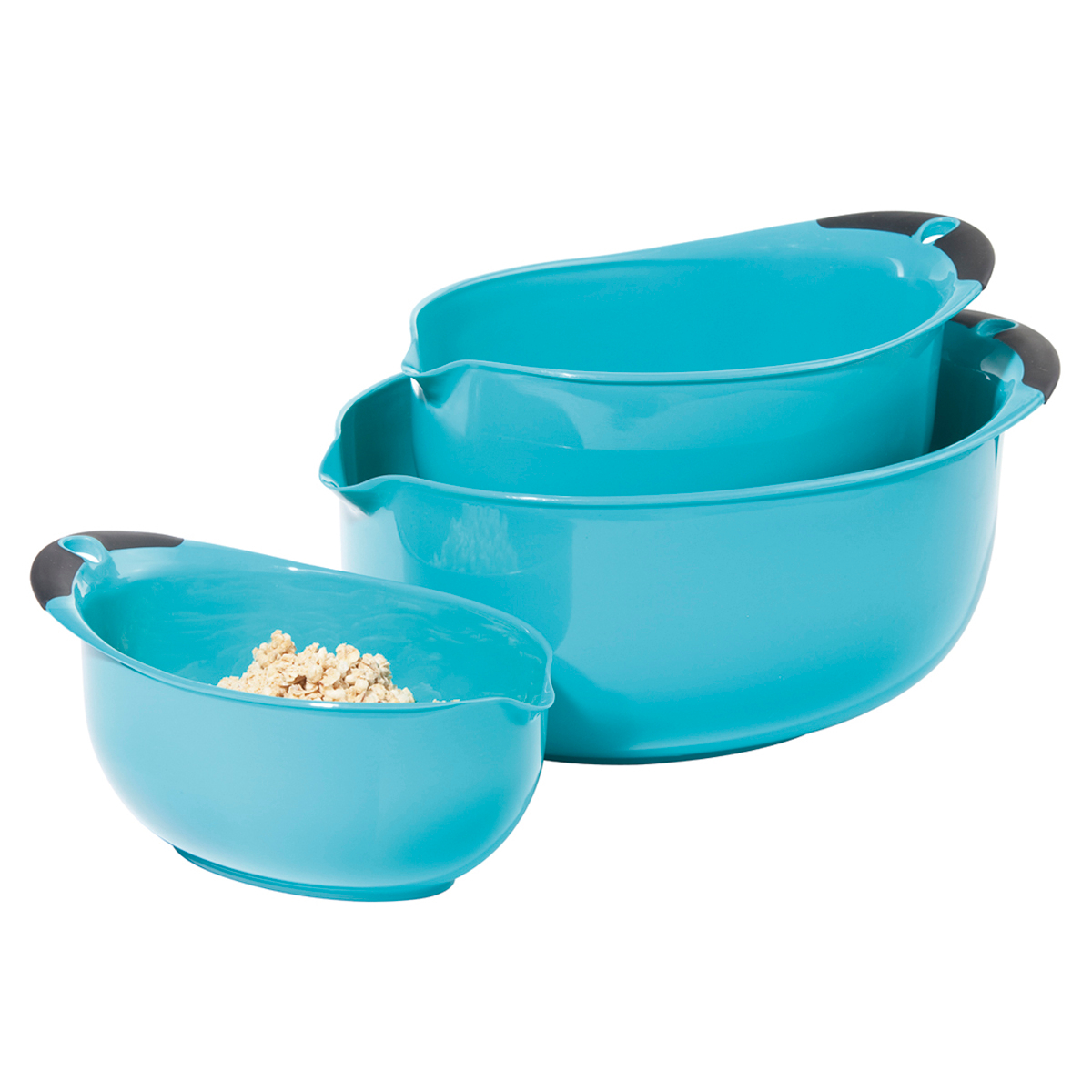OGGI Aqua 3 Piece Mixing Bowl Set