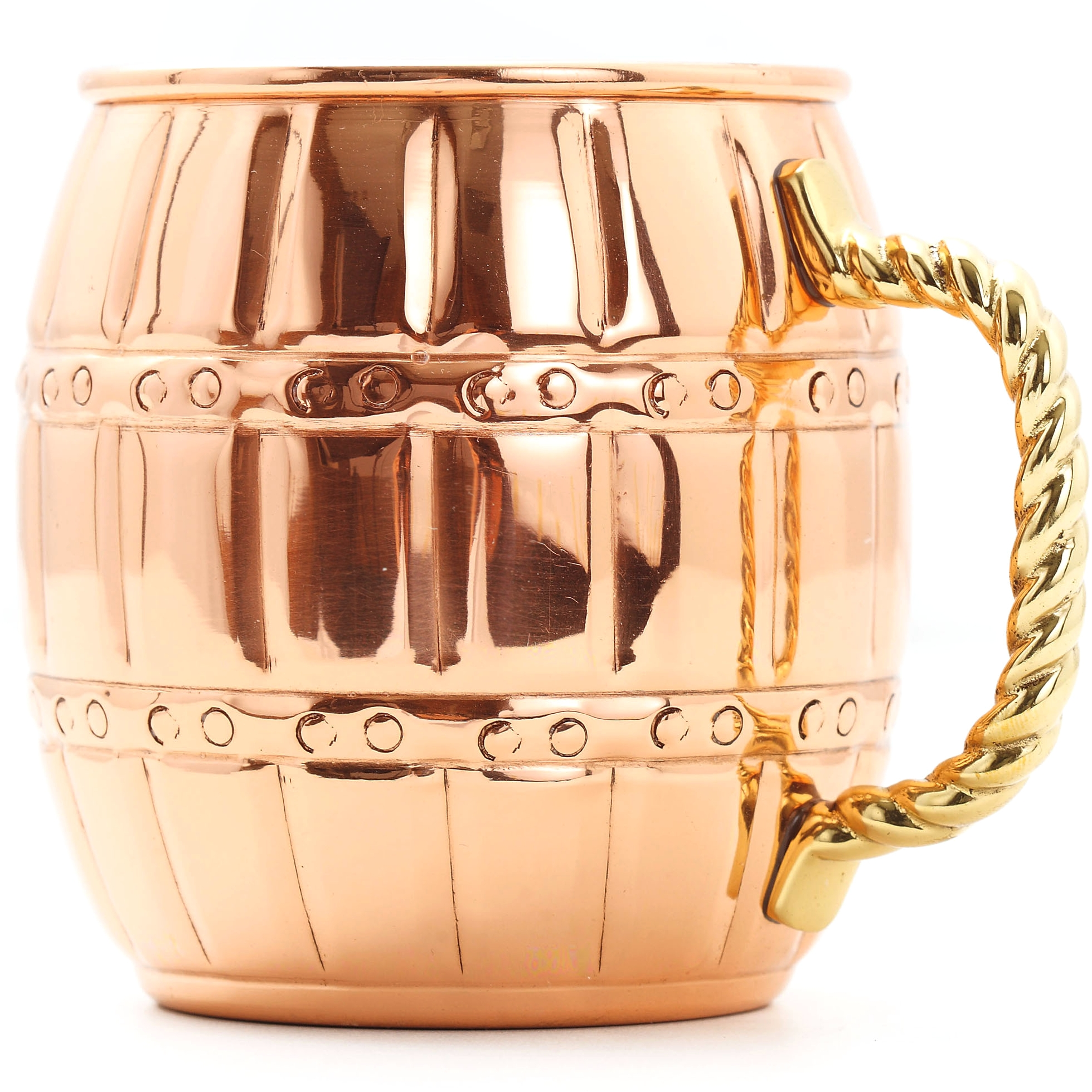 Old Dutch 16 Ounce Solid Copper Barrel Mule Mug, Set of 4