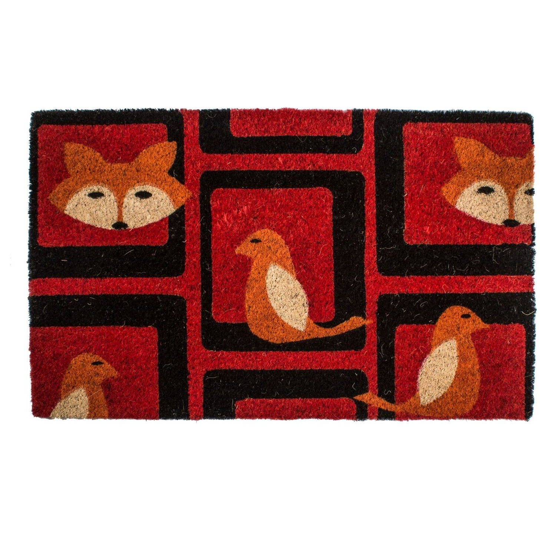 Entryways Foxy Hand-Woven Coir Welcome Mat