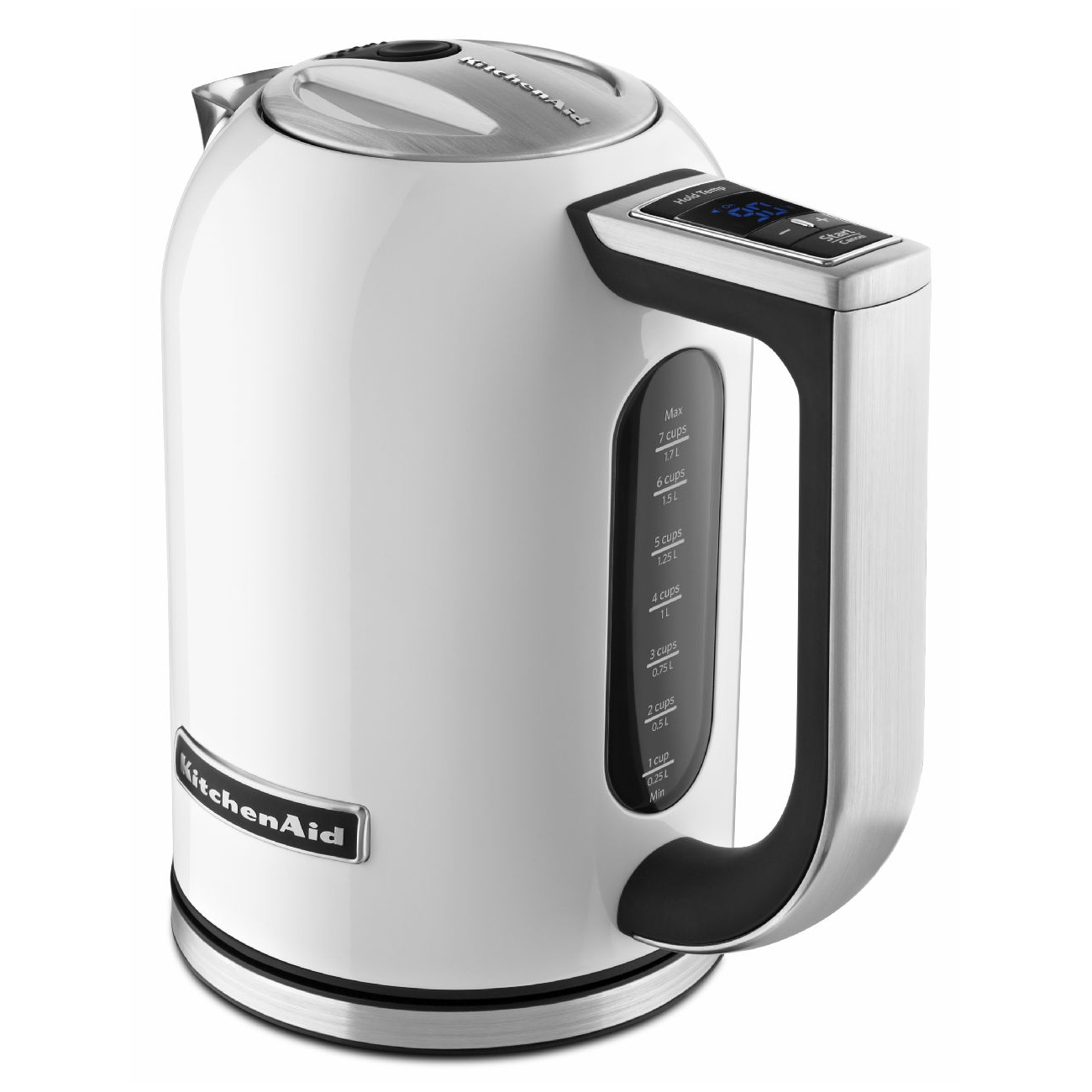 KitchenAid KEK1722WH White 1.7 Liter Electric Kettle with LED Display
