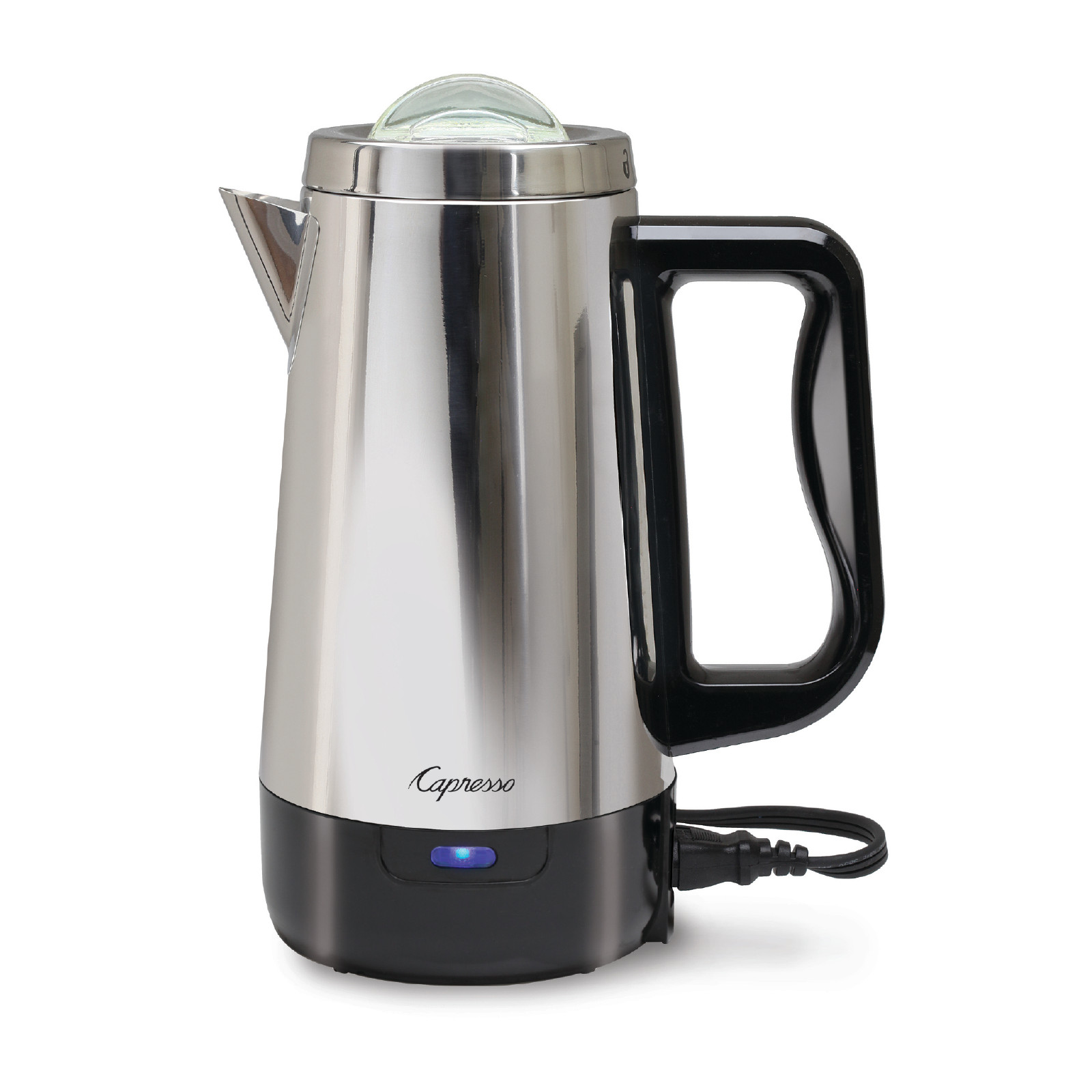 Capresso Perk Stainless Steel 8 Cup Electric Percolator