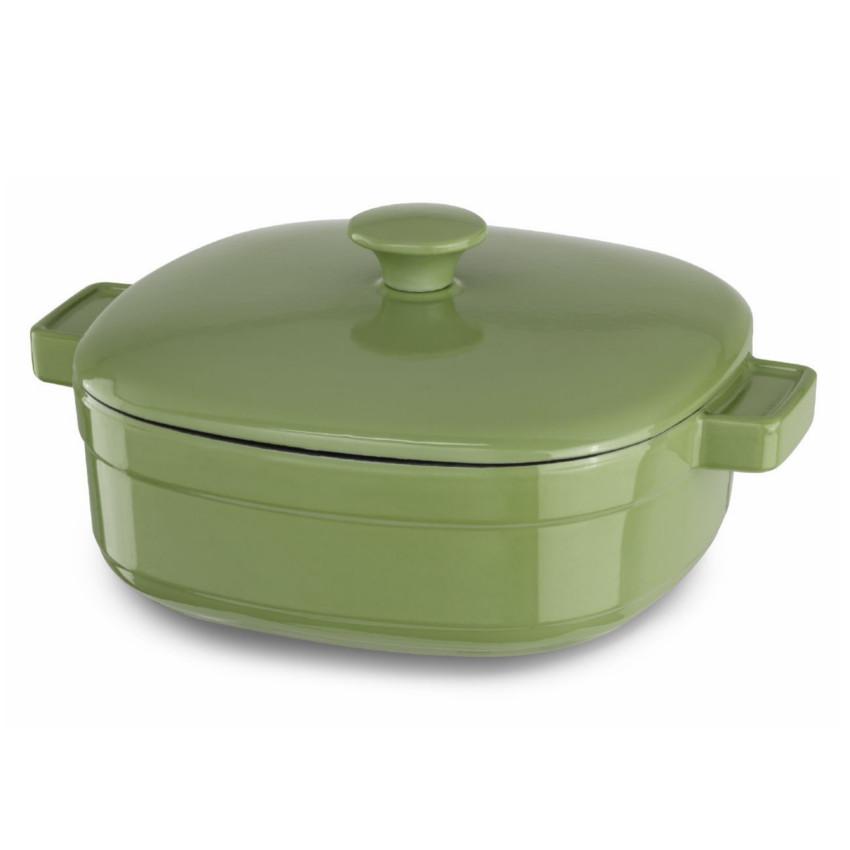 KitchenAid KCLI40CRKI Streamline Kiwi Cast Iron 4-Quart Casserole Dish with Lid