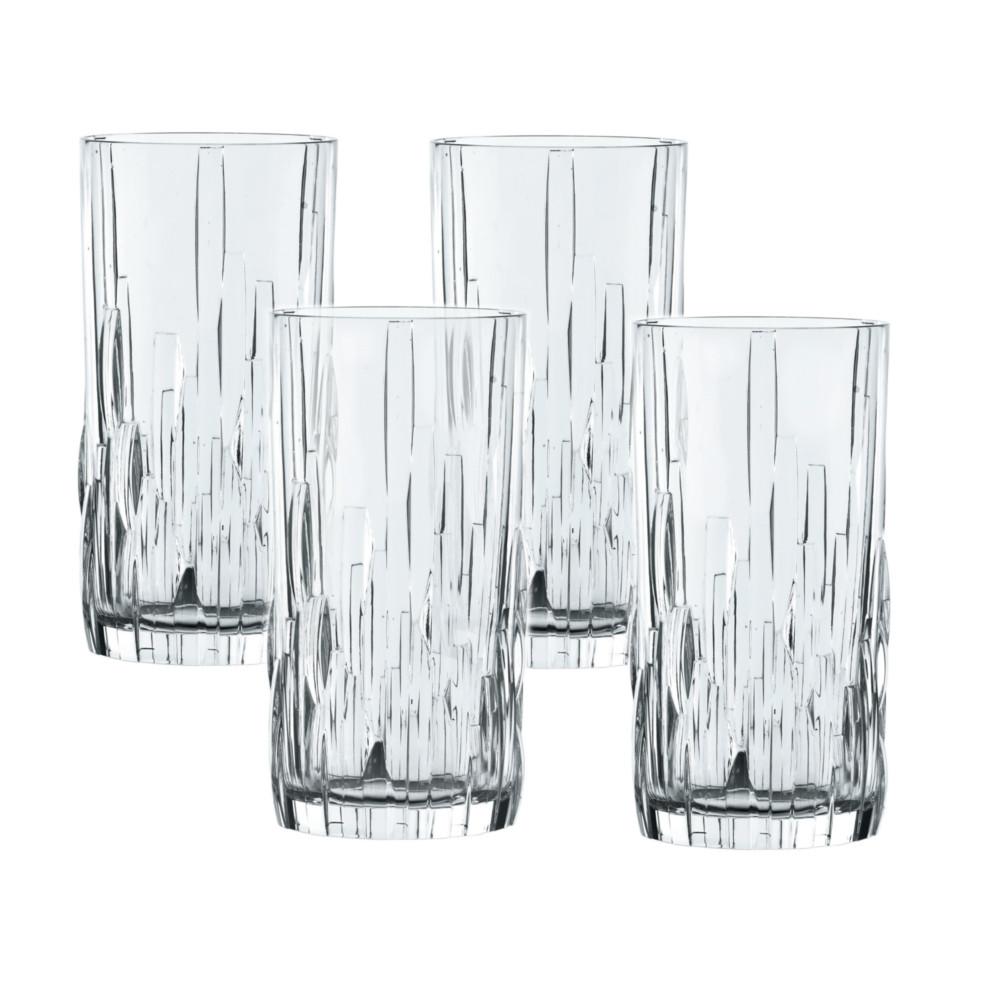 Nachtmann Shu Fa Fine Crystal Long Drink Glass, Set of 4