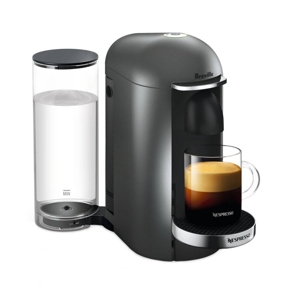 Breville Nespresso VertuoPlus Gray Espresso and Coffee Machine