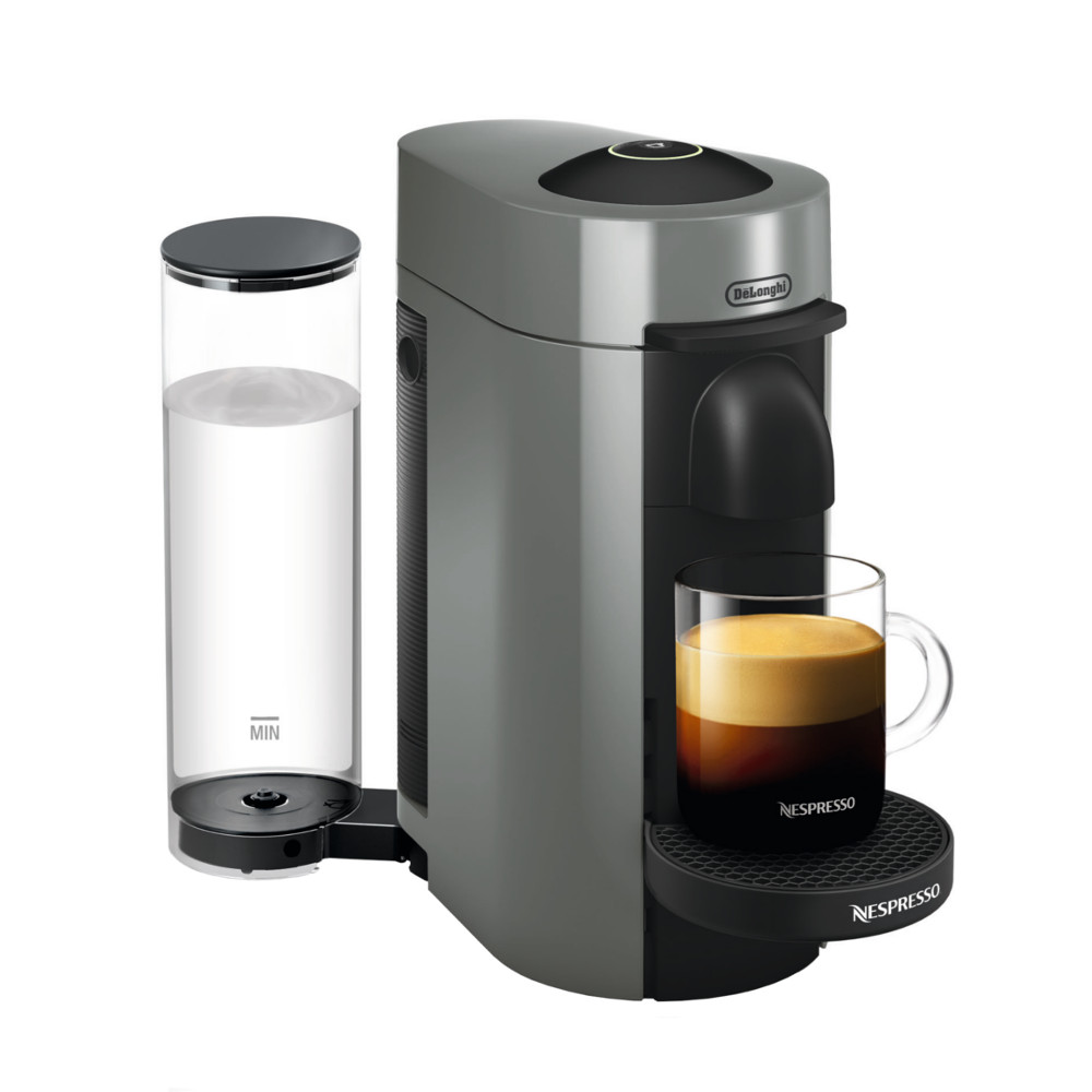DeLonghi Nespresso Vertuo Plus Grey Coffee and Espresso Machine