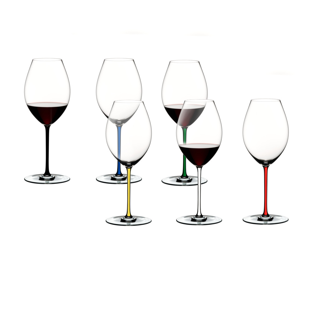 Riedel Fatto A Mano 6 Piece Fine Crystal Old World Syrah Wine Glass Set