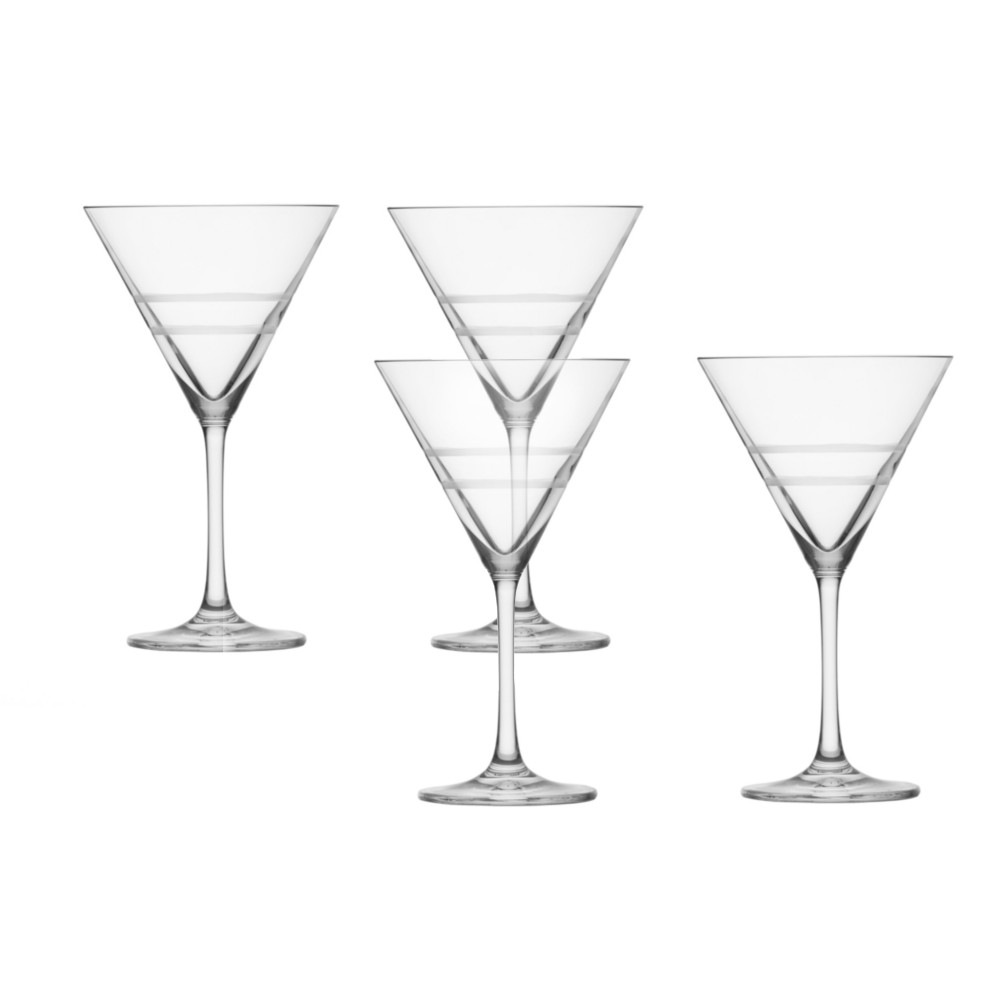 Crafthouse Schott Zwiesel Tritan 10 Ounce Martini Glass, Set of 4