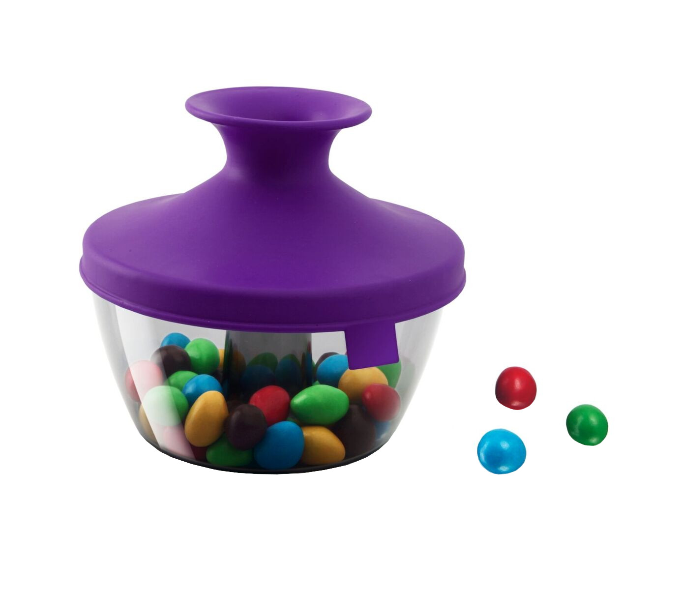 Tomorrow's Kitchen Purple 17 Ounce PopSome Nuts & Candy Bowl with Sleeve