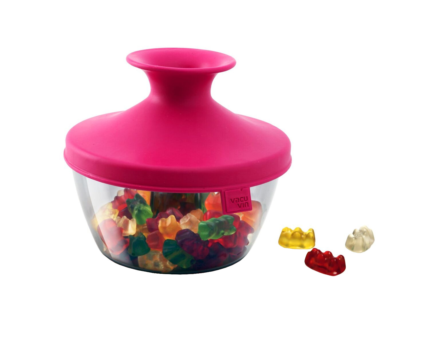 Tomorrow's Kitchen Pink 17 Ounce PopSome Nuts & Candy Bowl with Sleeve