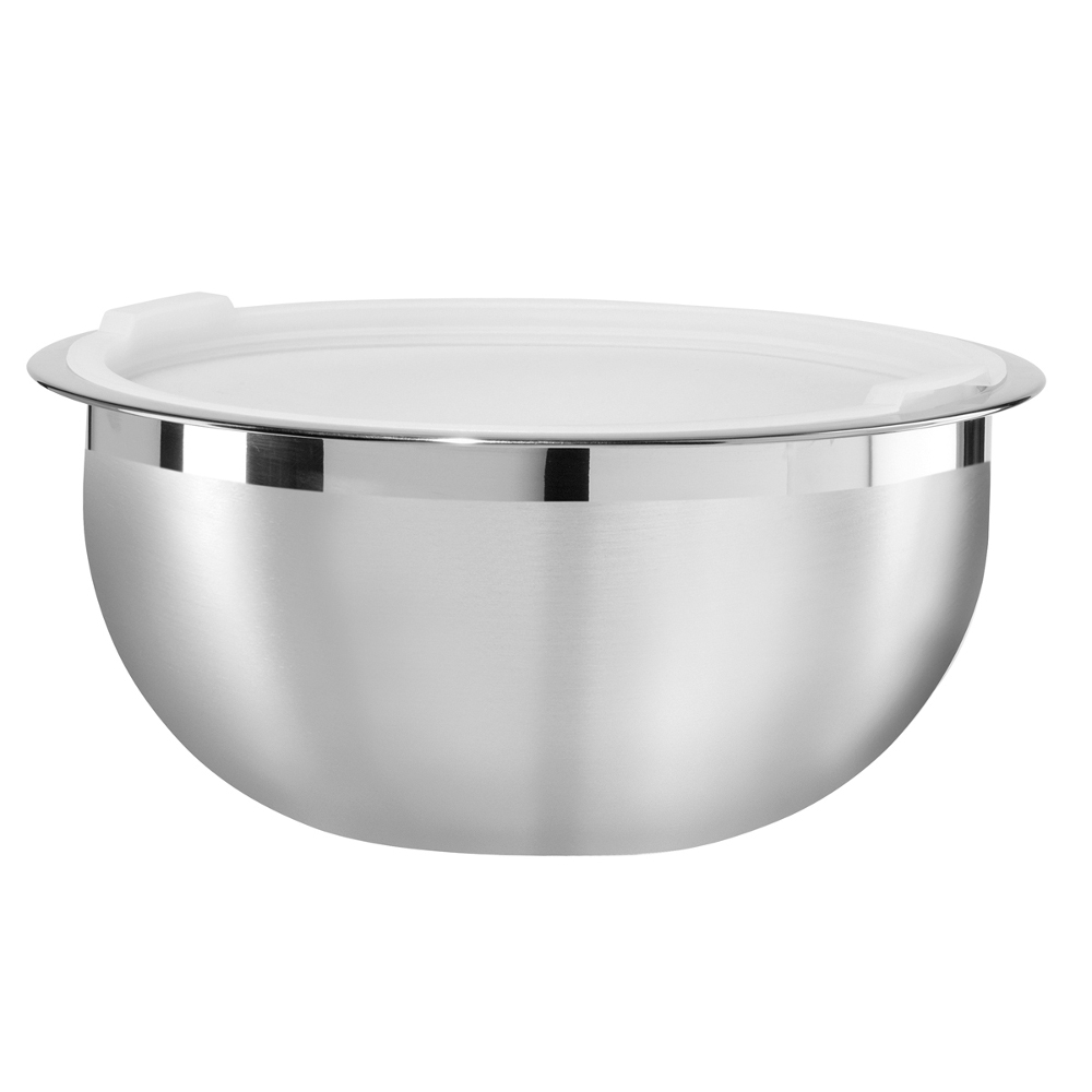 Oggi Stainless Steel 8 Quart Mixing Bowl with Lid
