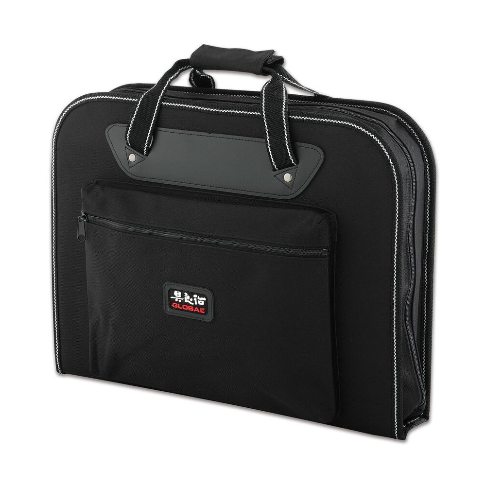 Global Black Canvas 19 Inch Chef's Knife and Cutlery Tool Case