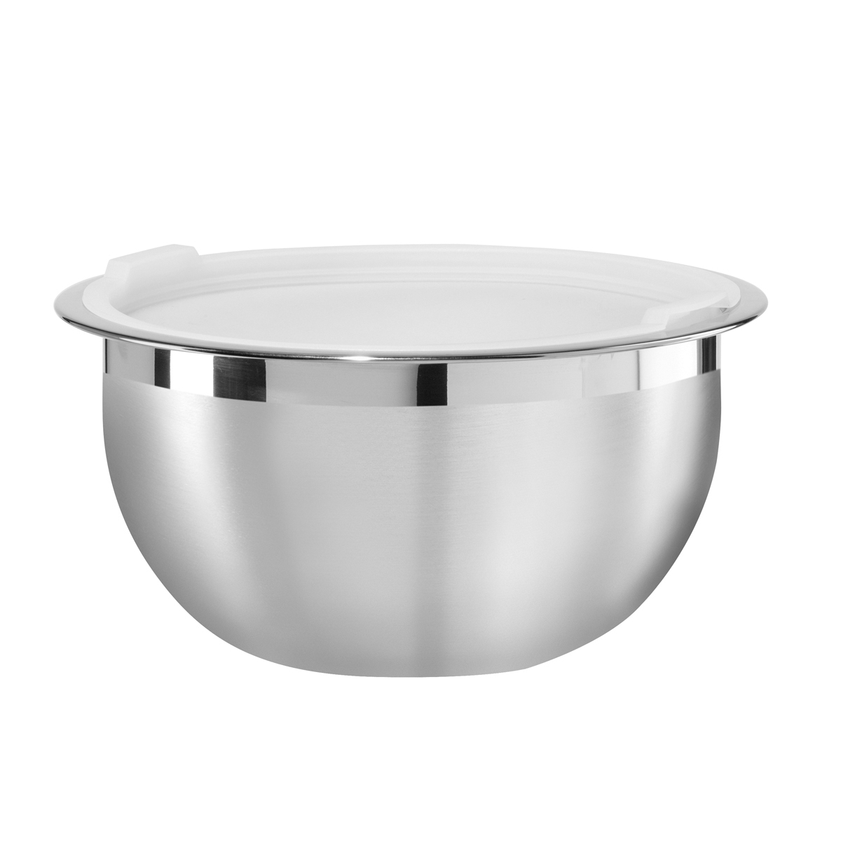 Oggi Stainless Steel 3 Quart Mixing Bowl with Polypropylene Lid