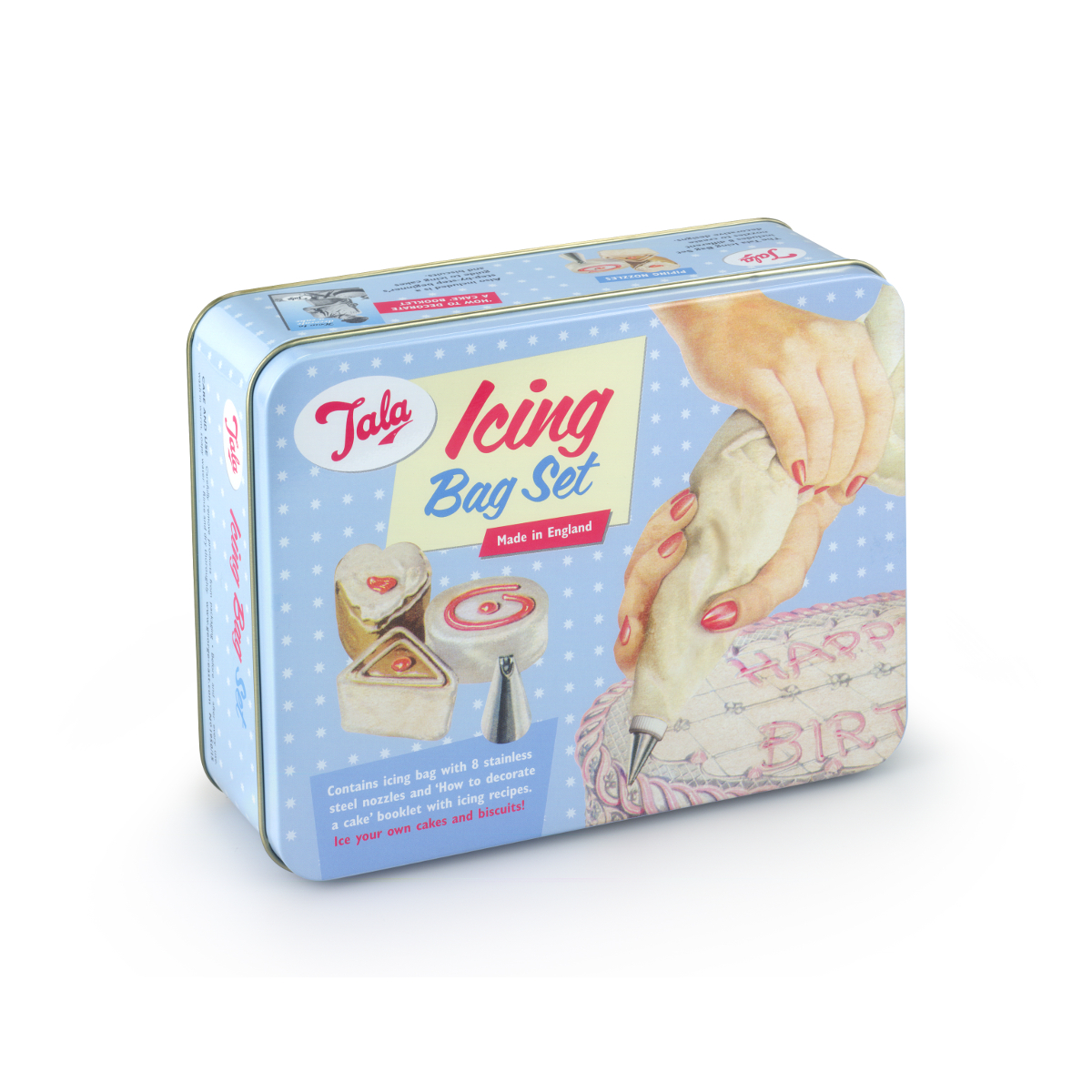 Tala Originals Icing Bag Set in Storage Tin