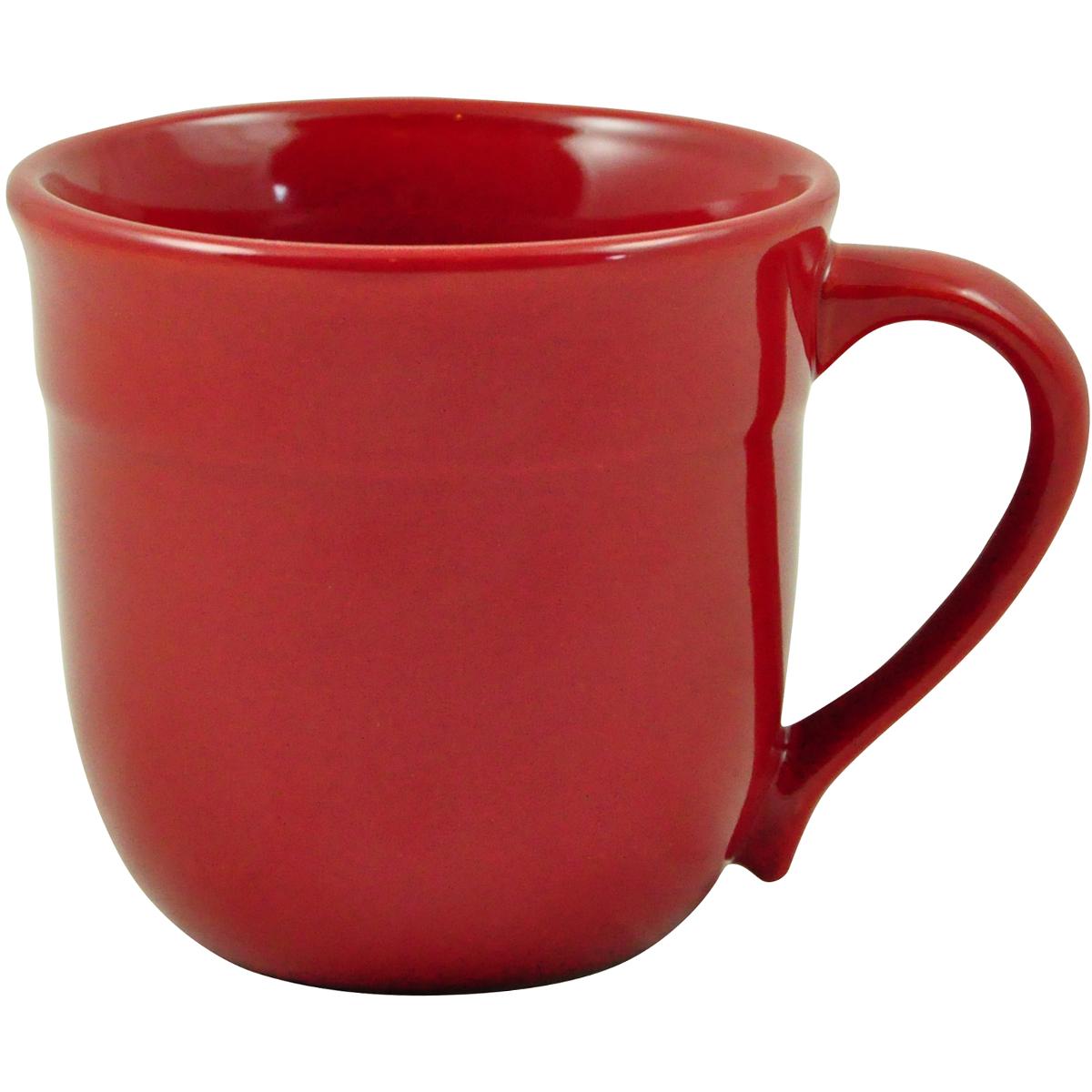 Emile Henry HR Burgundy Ceramic 13.5 Ounce Traditional Mug