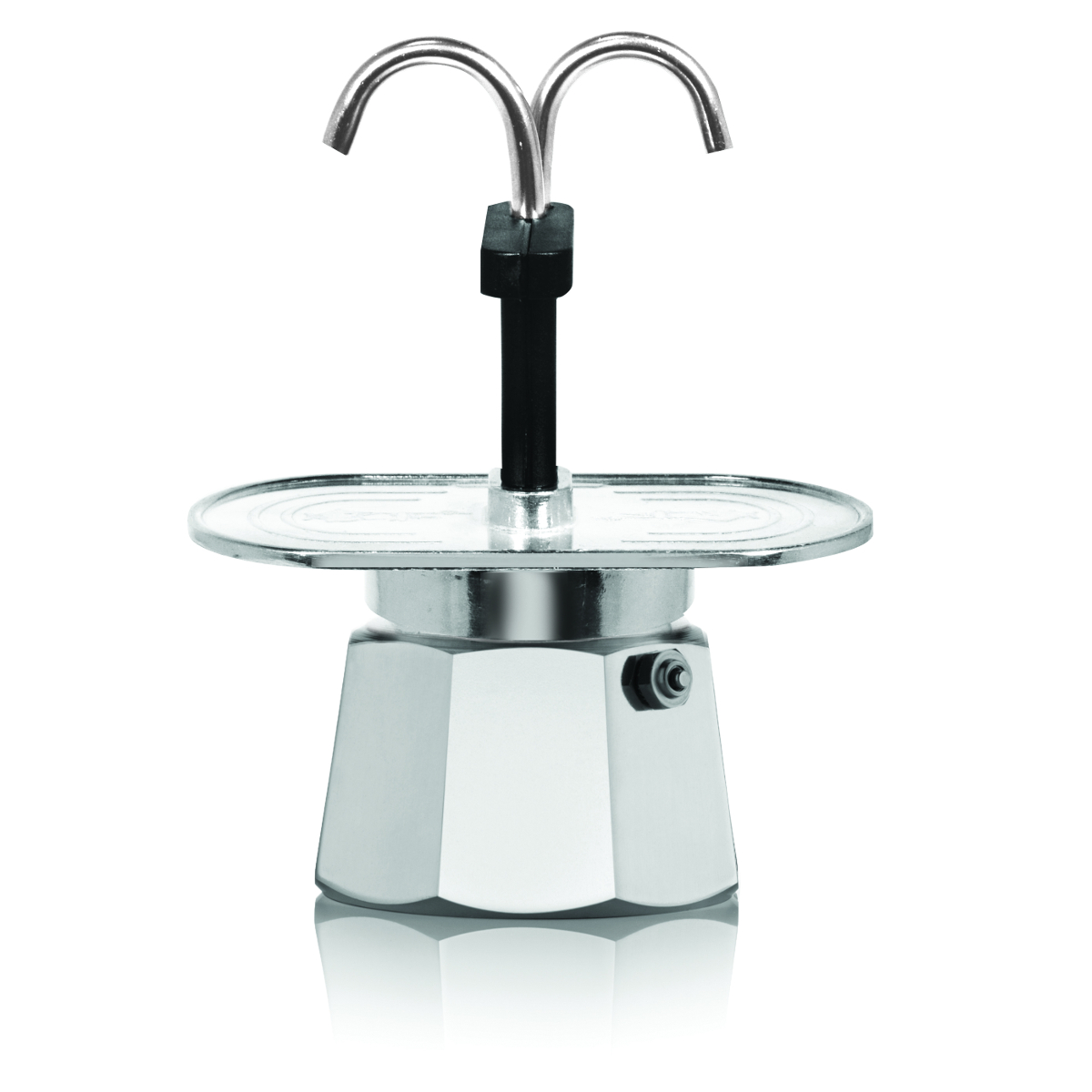 Bialetti Mini Express Aluminum 2 Cup Stovetop Moka Pot
