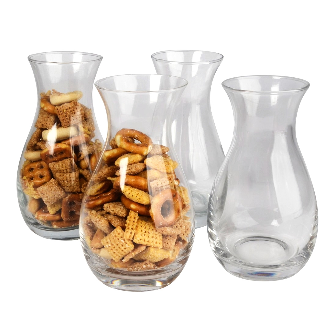 Artland Barkeep 8 Ounce Bar Snacker Jar, Set of 4