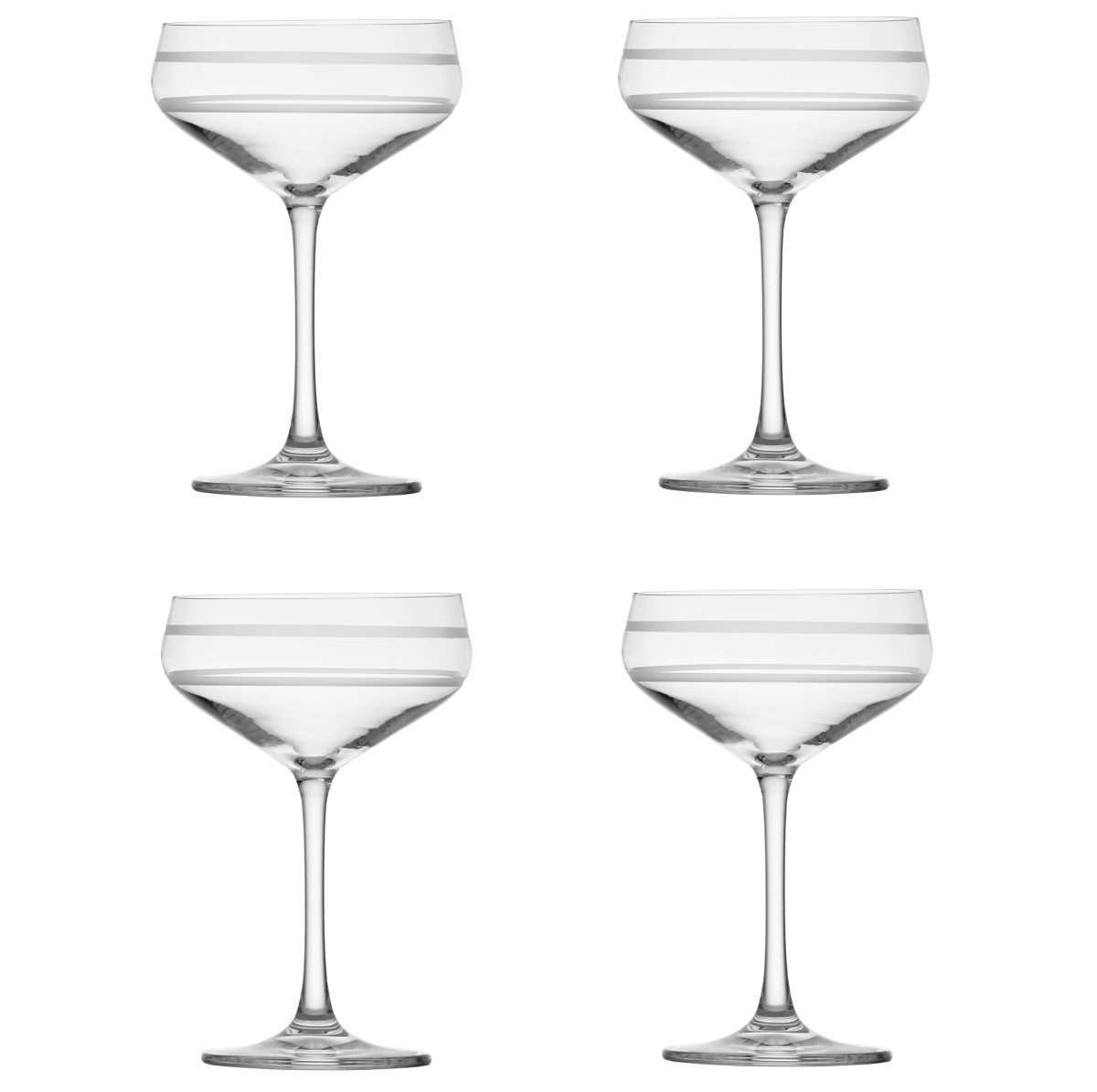 CraftHouse by Fortessa Tritan Crystal 8.8 Ounce SZ Coupe Cocktail Glass, Set of 4