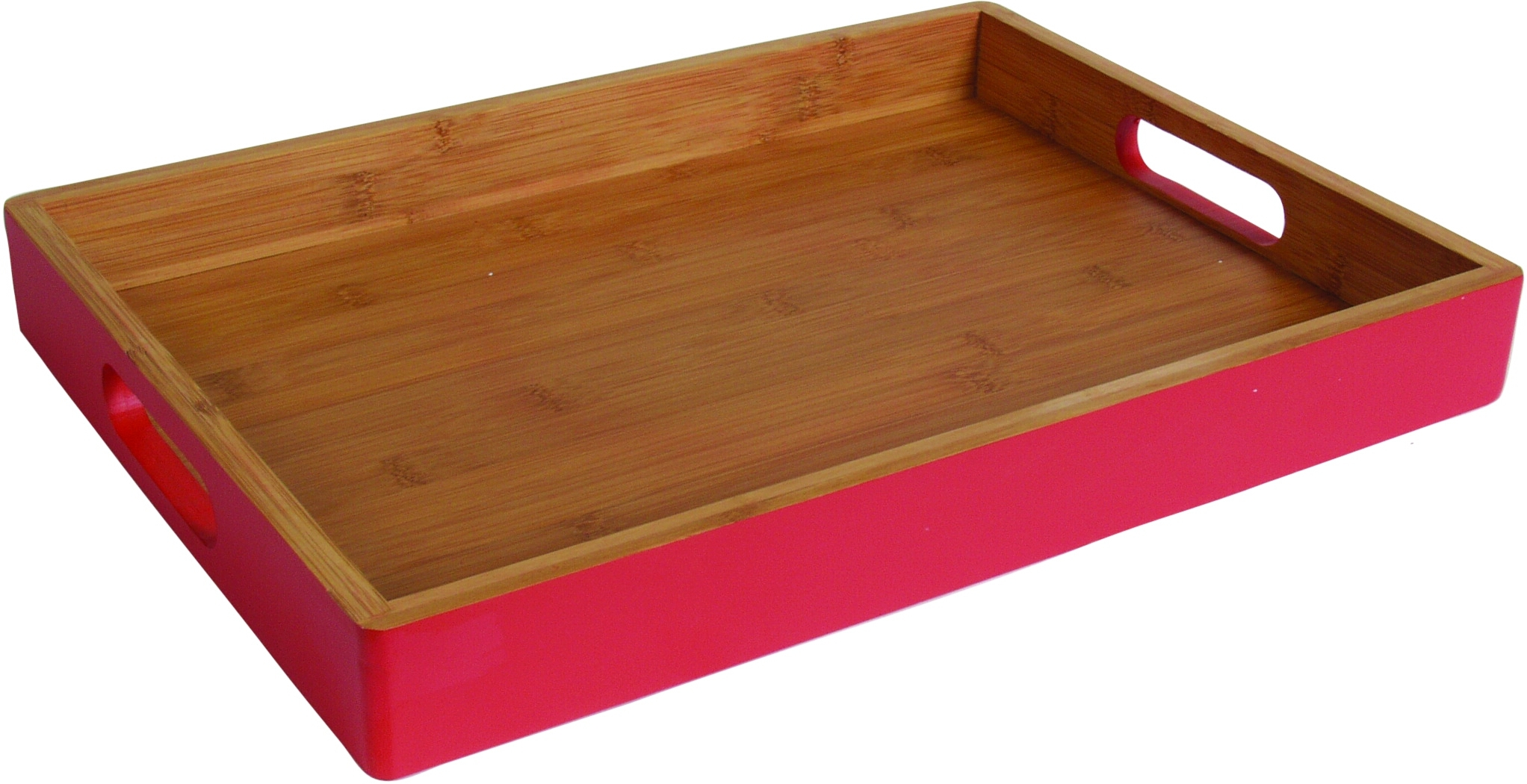 Island Bamboo Hue Red Large Dining Tray