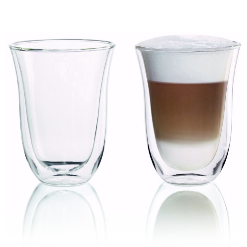 Delonghi Double Walled Thermo Latte Macchiato Glass, Set of 6