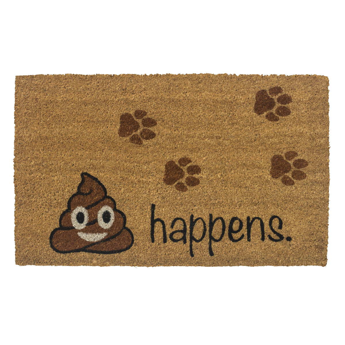Entryways It Happens Non-Slip Coir 17 x 30 Inch Doormat