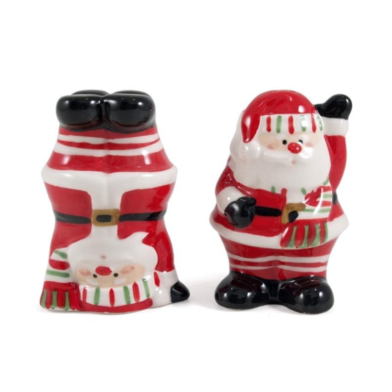 Boston Warehouse Santa Claus Earthenware Salt and Pepper Shakers, Set of 2