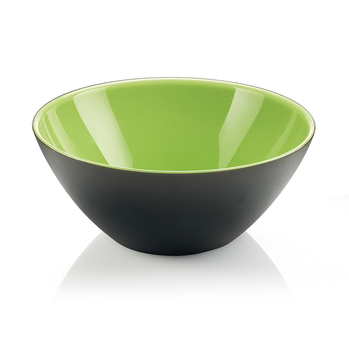 Guzzini My Fusion Kiwi and Black 1.2 Quart Bowl