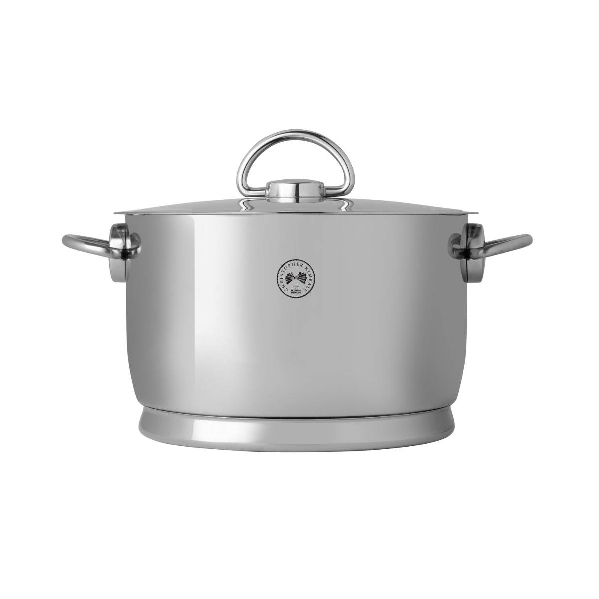 Christopher Kimball for Kuhn Rikon Stainless Steel 5.3 Quart Durotherm Hold and Serve Dutch Oven with Lid