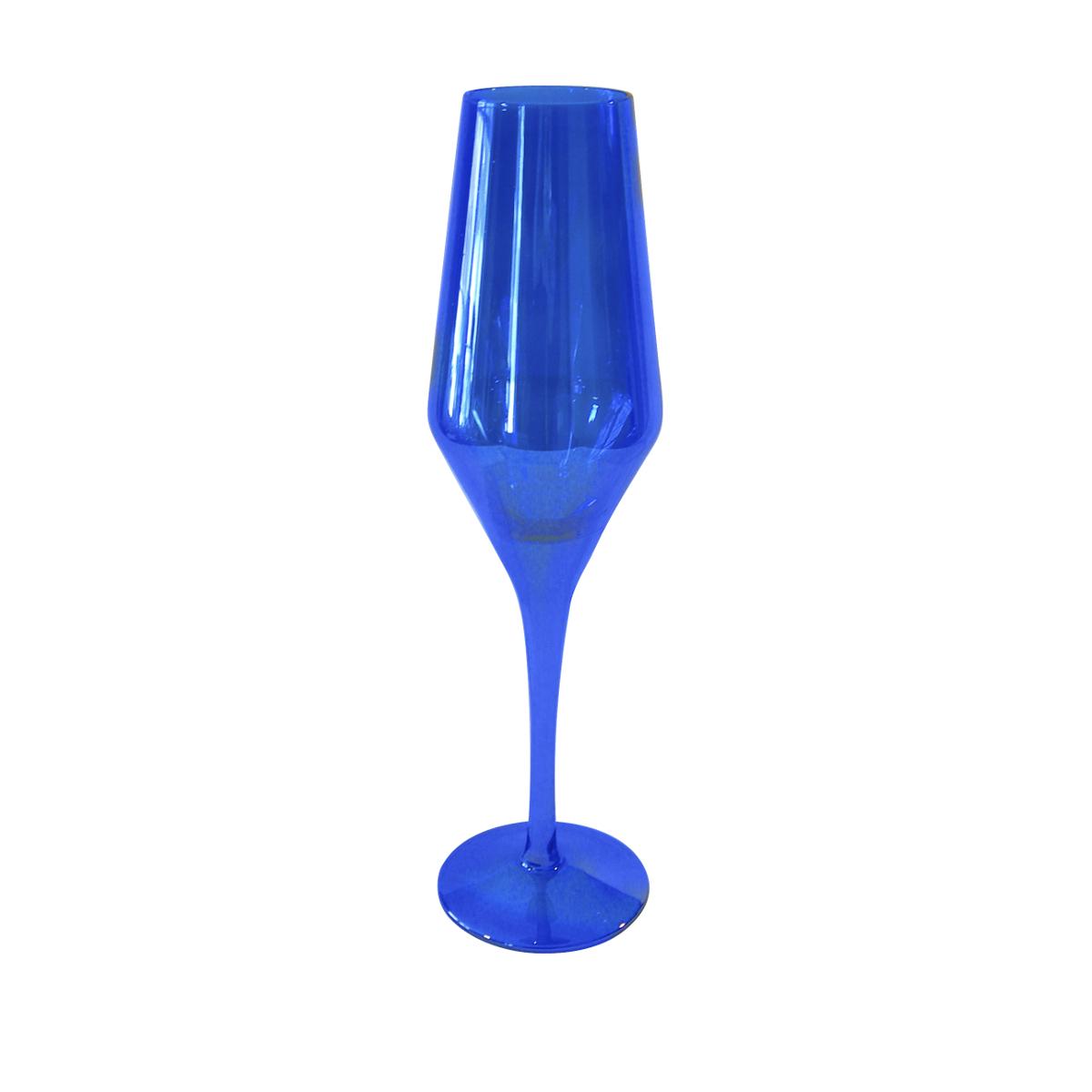 Artland Luster Blue Glass 8 Ounce Flute