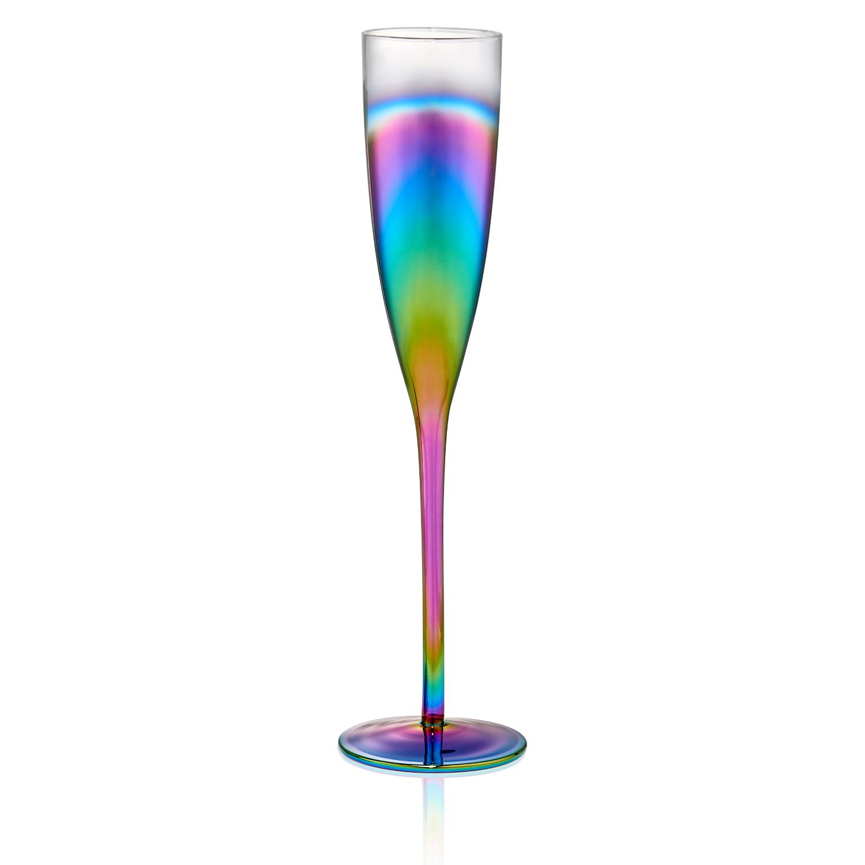 Artland Rainbow Glass 5 Ounce Flute