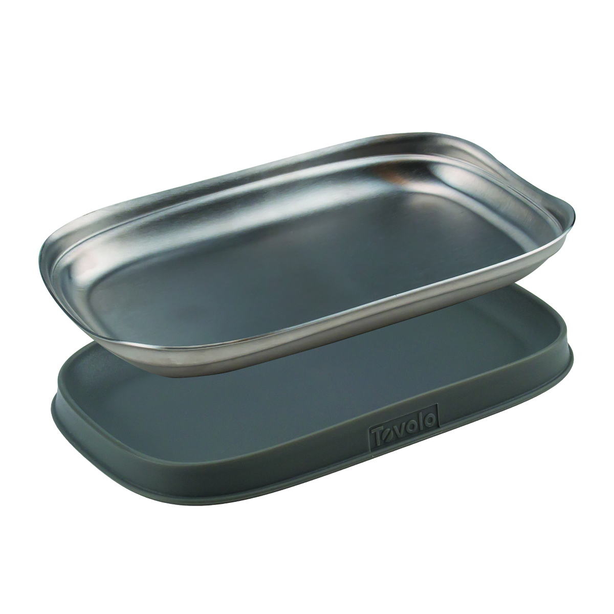 Tovolo Stainless Steel Double Spoon Rest
