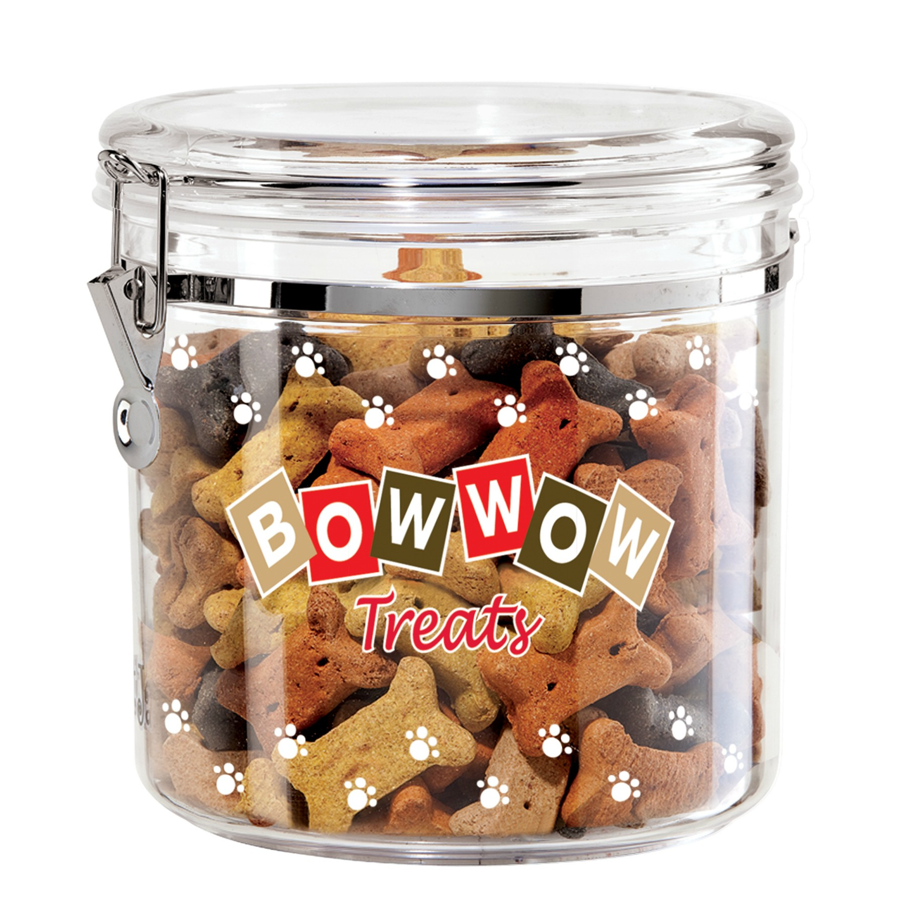 Oggi Acrylic Bow Wow 1.17 Gallon Dog Treat Jar