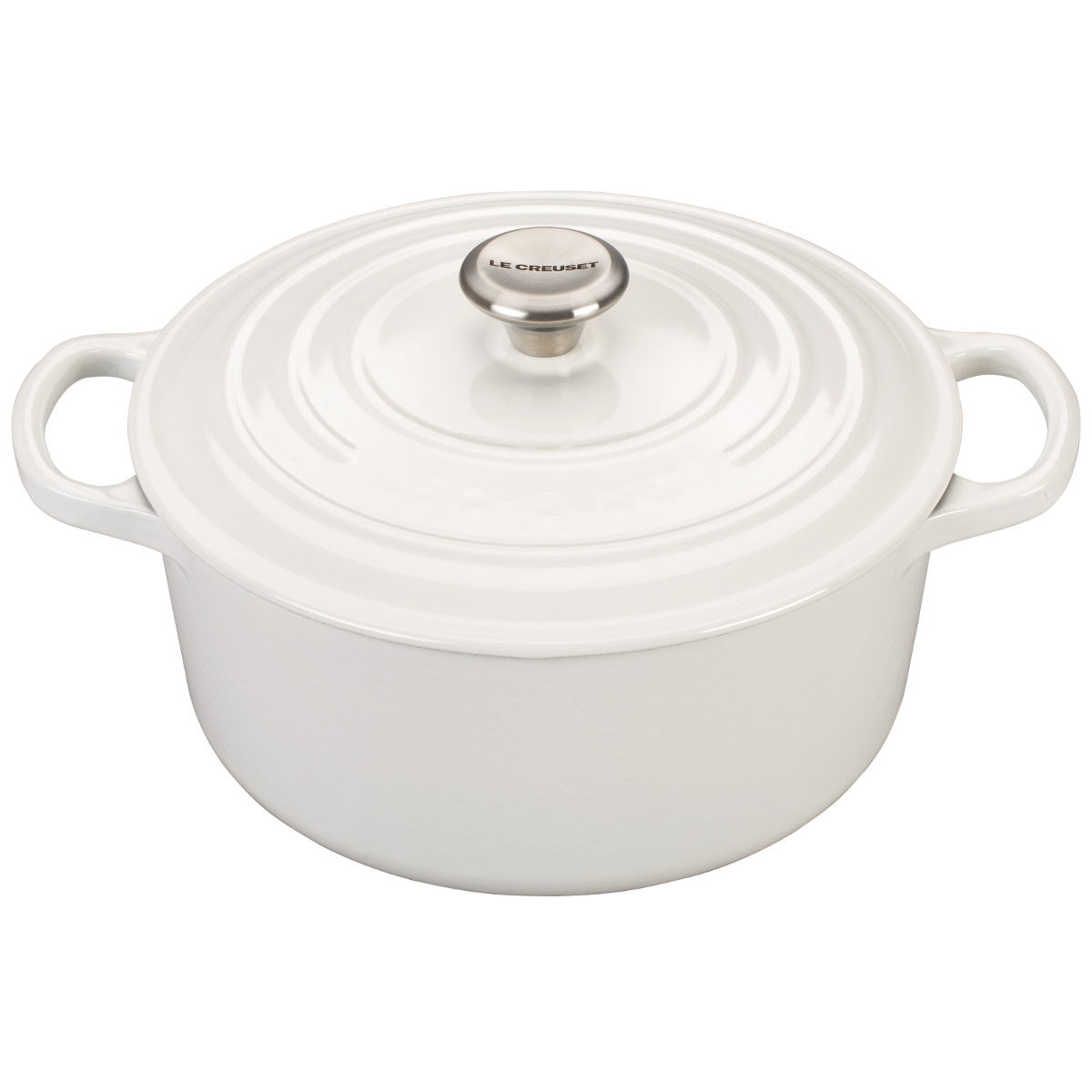 Le Creuset Signature White Enameled Cast Iron 3.5 Quart Round French Oven