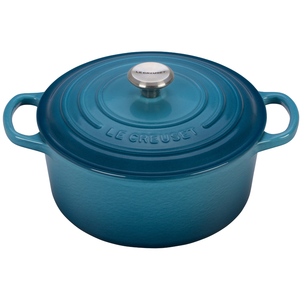 Le Creuset Signature Marine Enameled Cast Iron 3.5 Quart Round French Oven