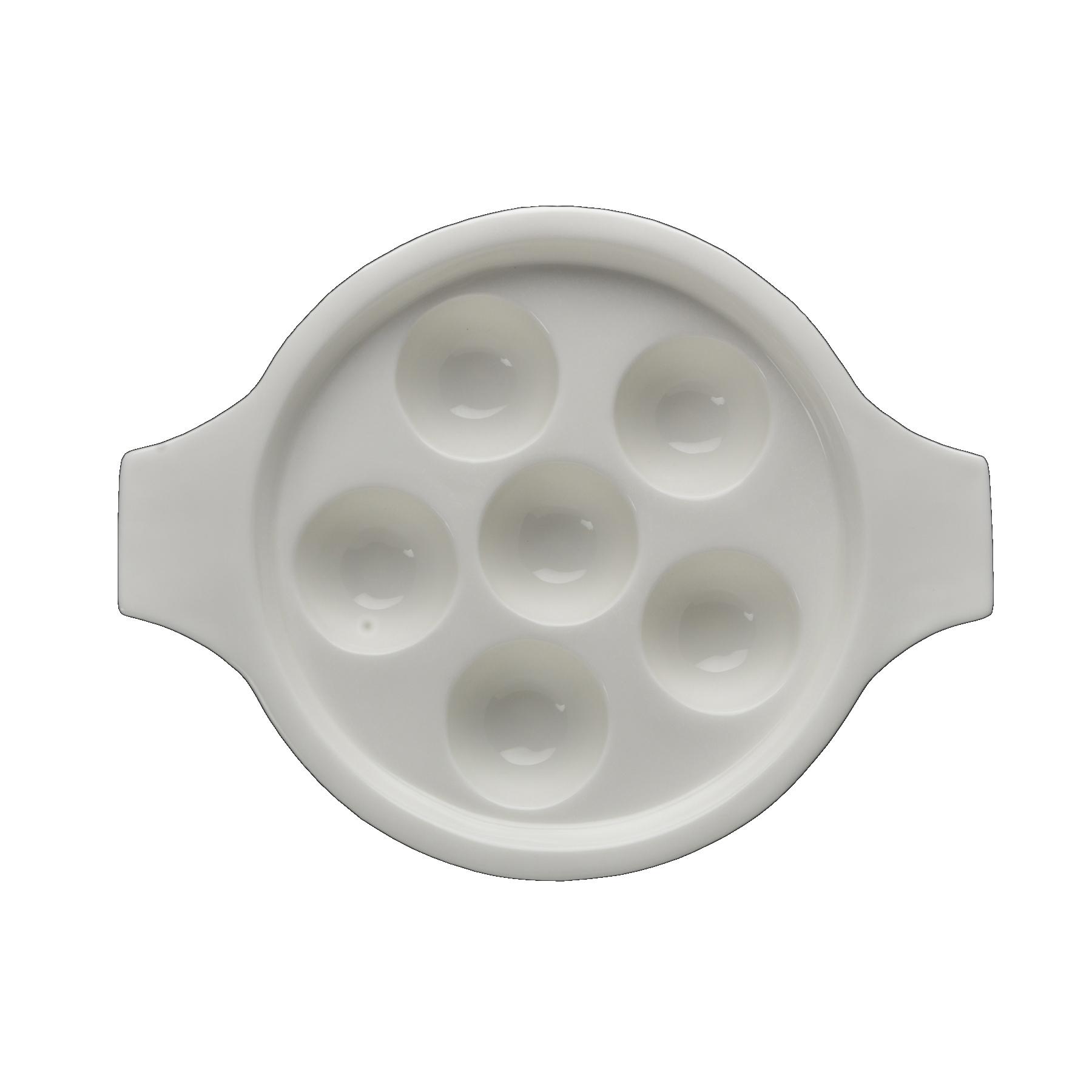 Fortessa Fortaluxe Basics White 8.25 Inch Escargot Dish with Handles