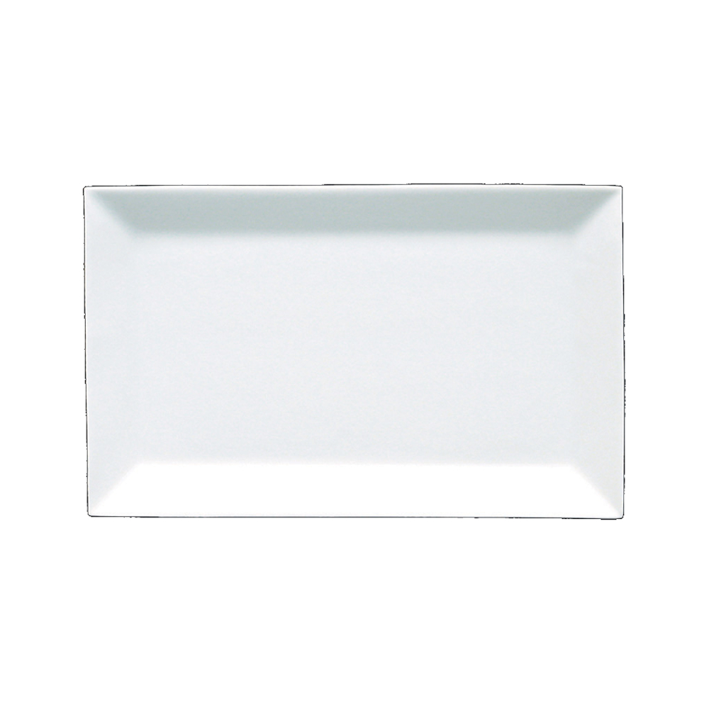 Fortessa Fortaluxe Plaza White 16 x 10 Inch Rectangular Tray