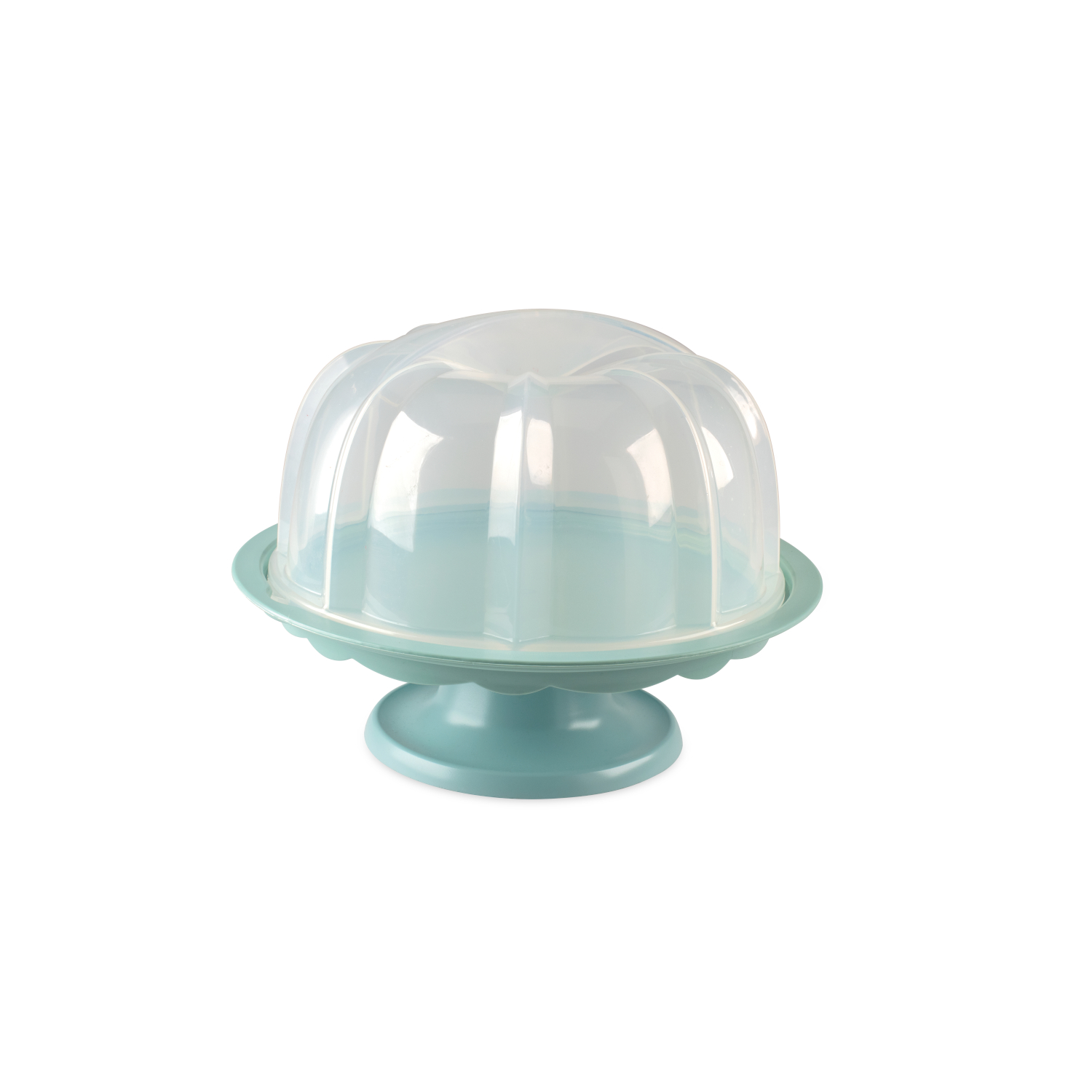Nordic Ware Sea Glass 12.75 Inch Bundt Cake Stand with Dome Lid