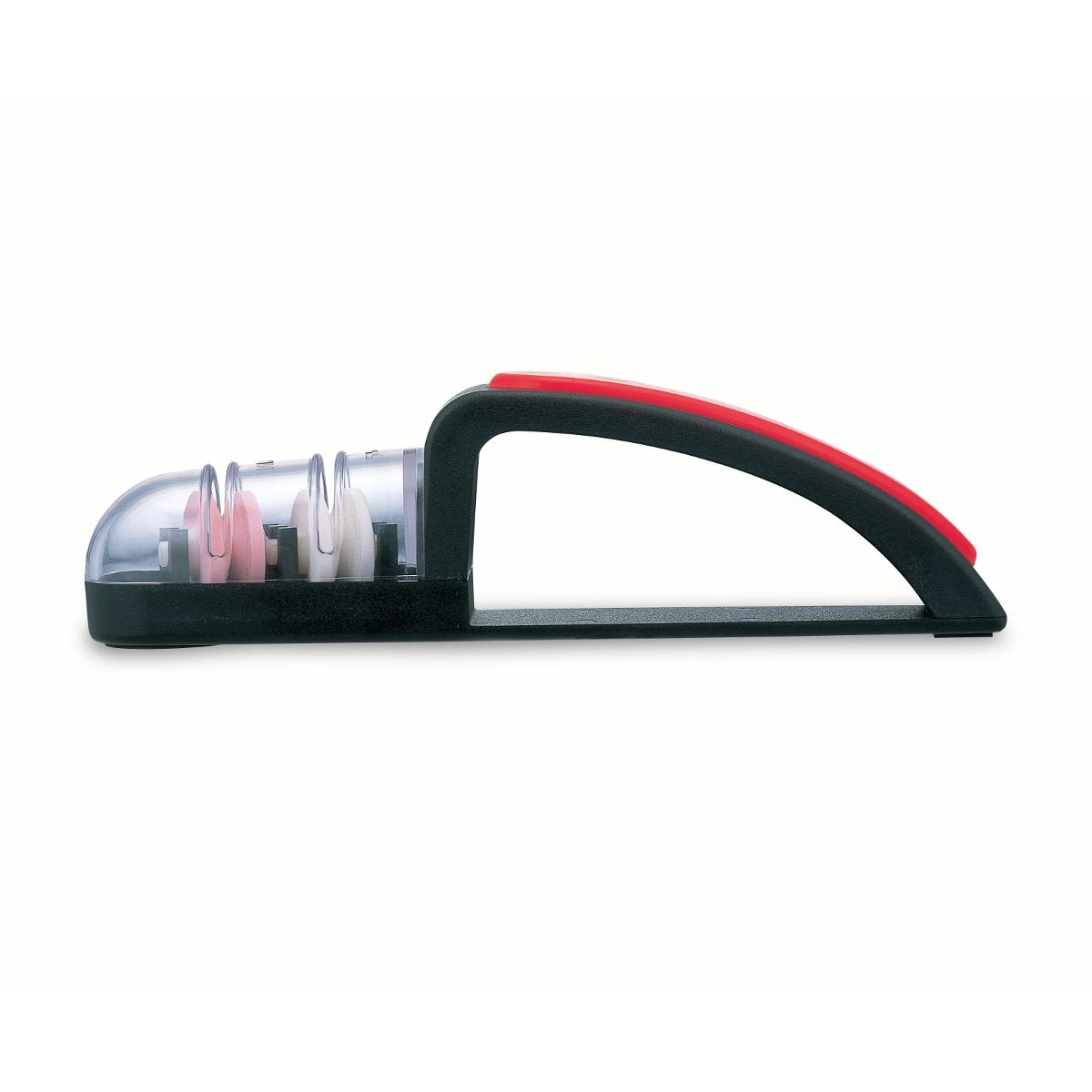 Global MINOSHARP Plus Black and Red Ceramic 2 Stage Large Sharpener