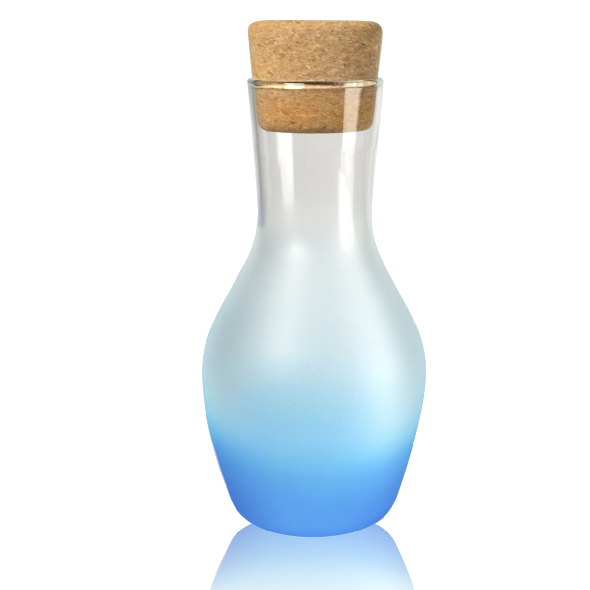 Artland Frost Shadow Turquoise Glass 1 Quart Carafe