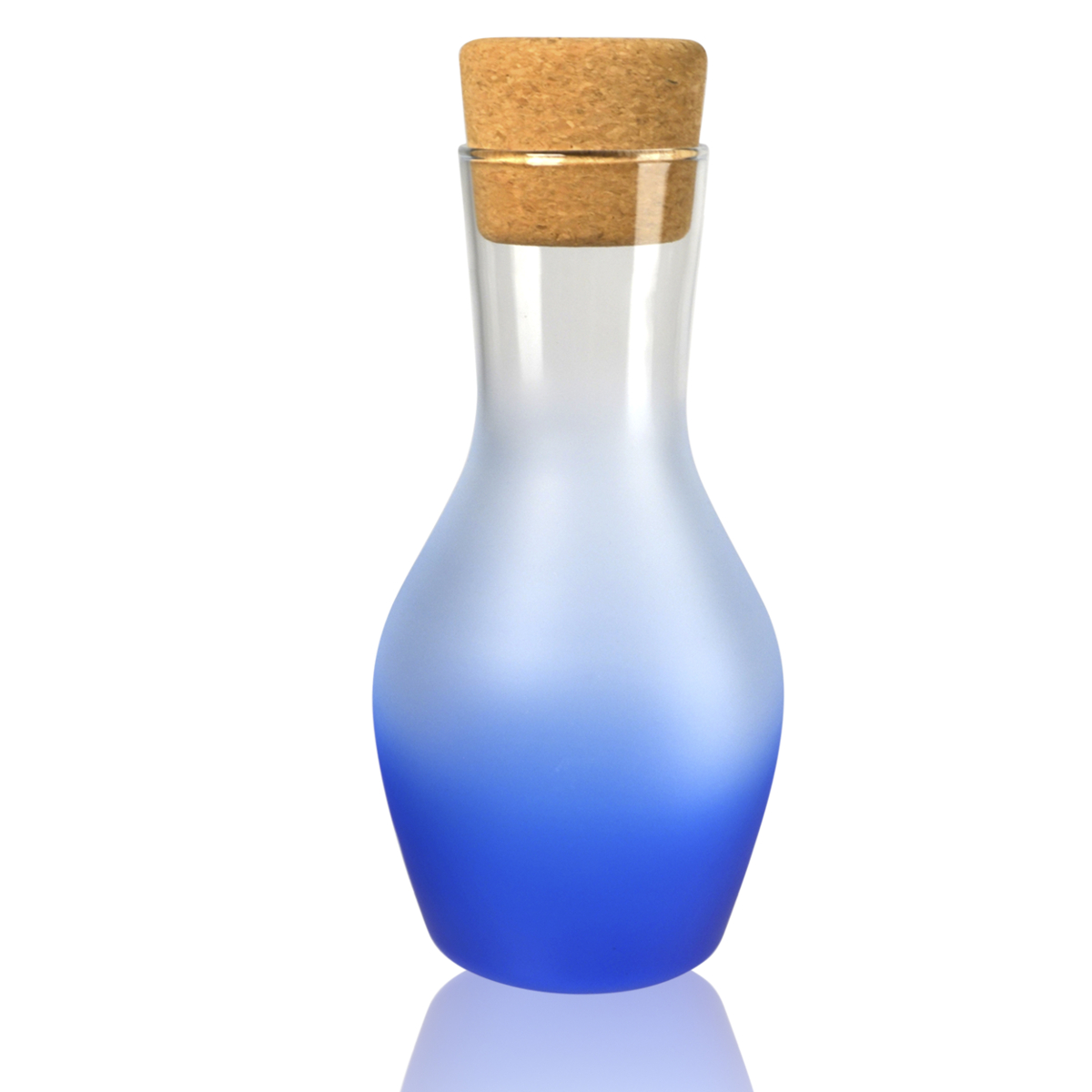 Artland Frost Shadow Blue Glass 1 Quart Carafe