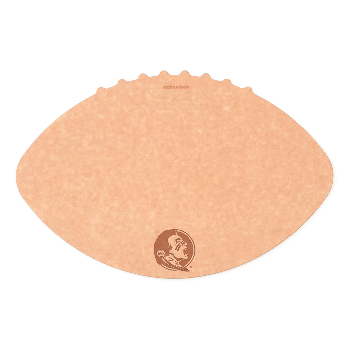 Epicurean Florida State University 16 x 10.5 Inch Football Cutting and Serving Board