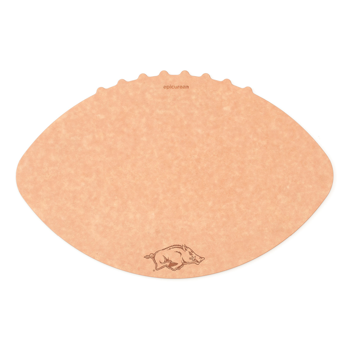 Epicurean University of Arkansas 16 x 10.5 Inch Football Cutting and Serving Board
