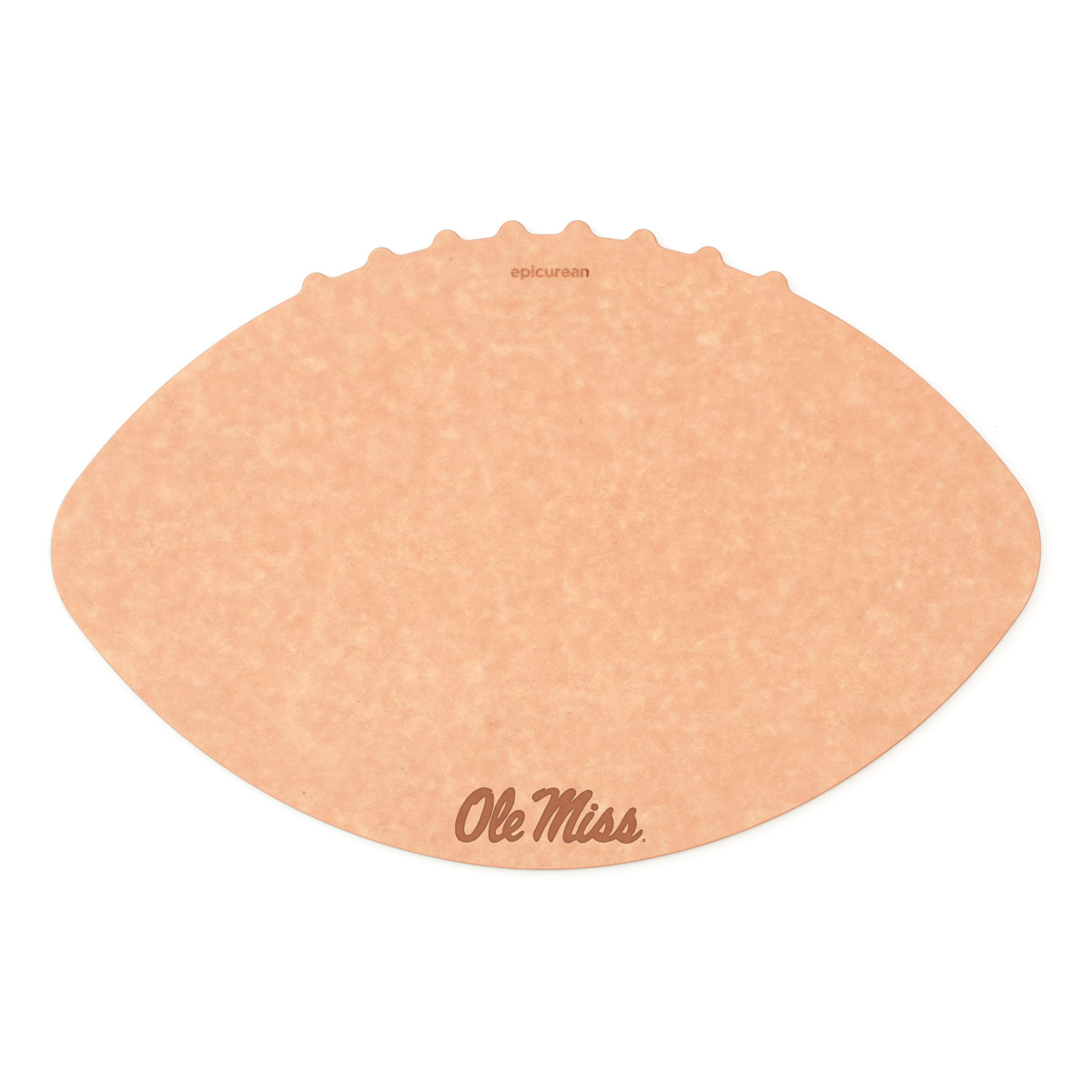 Epicurean University of Mississippi (Ole Miss) 16 x 10.5 Inch Football Cutting and Serving Board