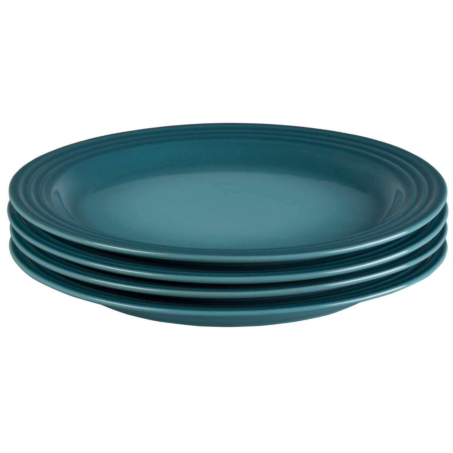 Le Creuset Caribbean Stoneware 11.25 Inch Dinner Plate, Set of 4